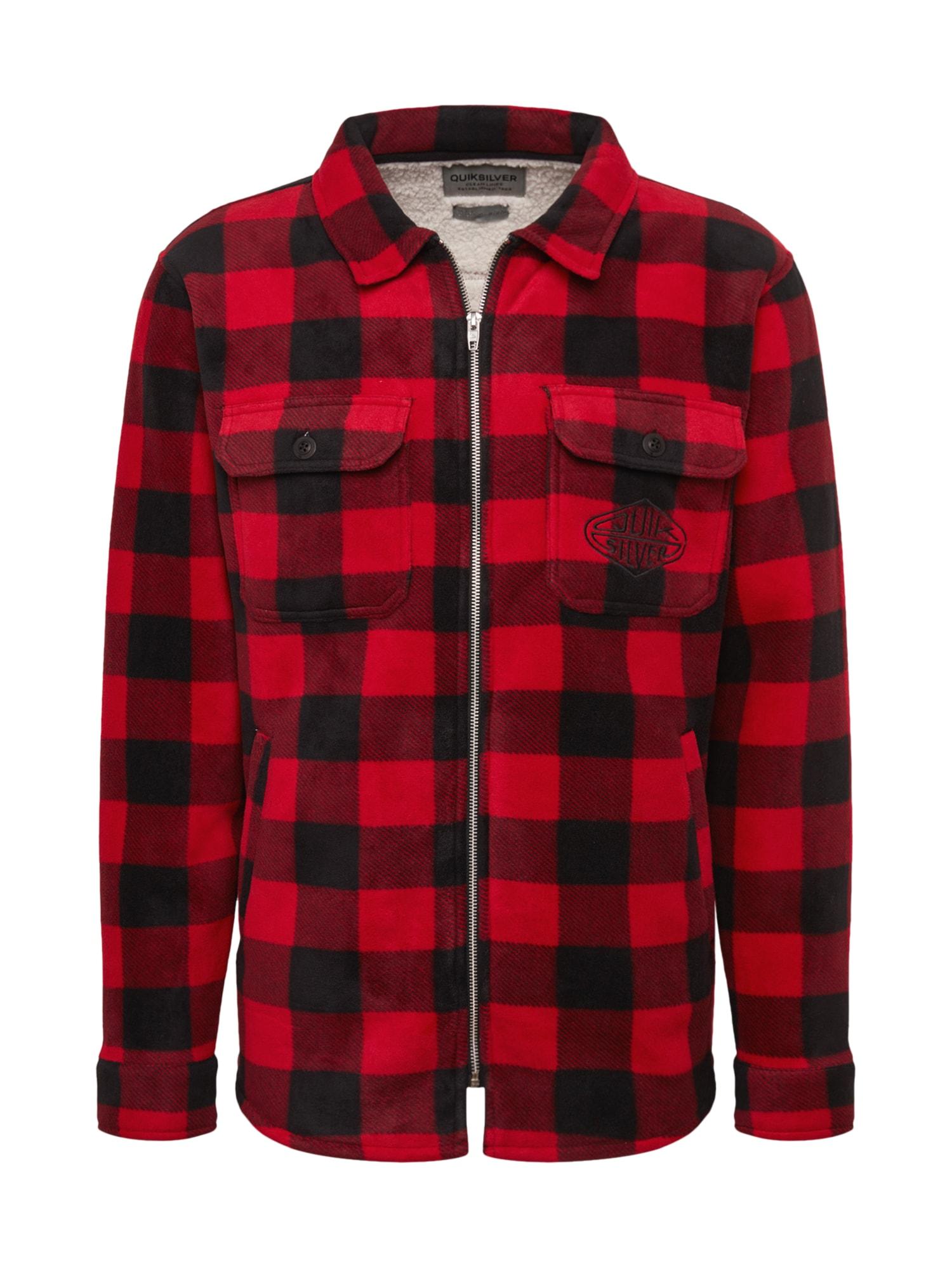 QUIKSILVER Funkční košile 'TOLALA'  černá / červená