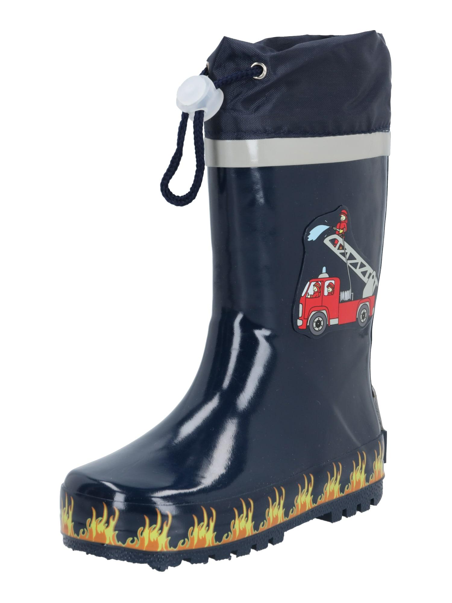PLAYSHOES Guminiai batai tamsiai mėlyna / šviesiai pilka / melionų spalva / aukso geltonumo spalva / mišrios spalvos