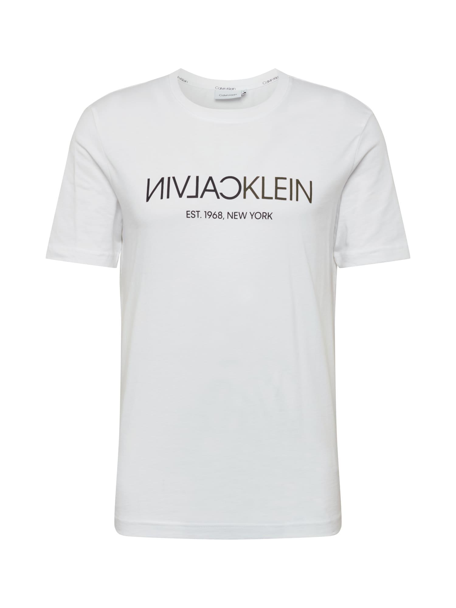 Calvin Klein Marškinėliai balta / raudona / juoda