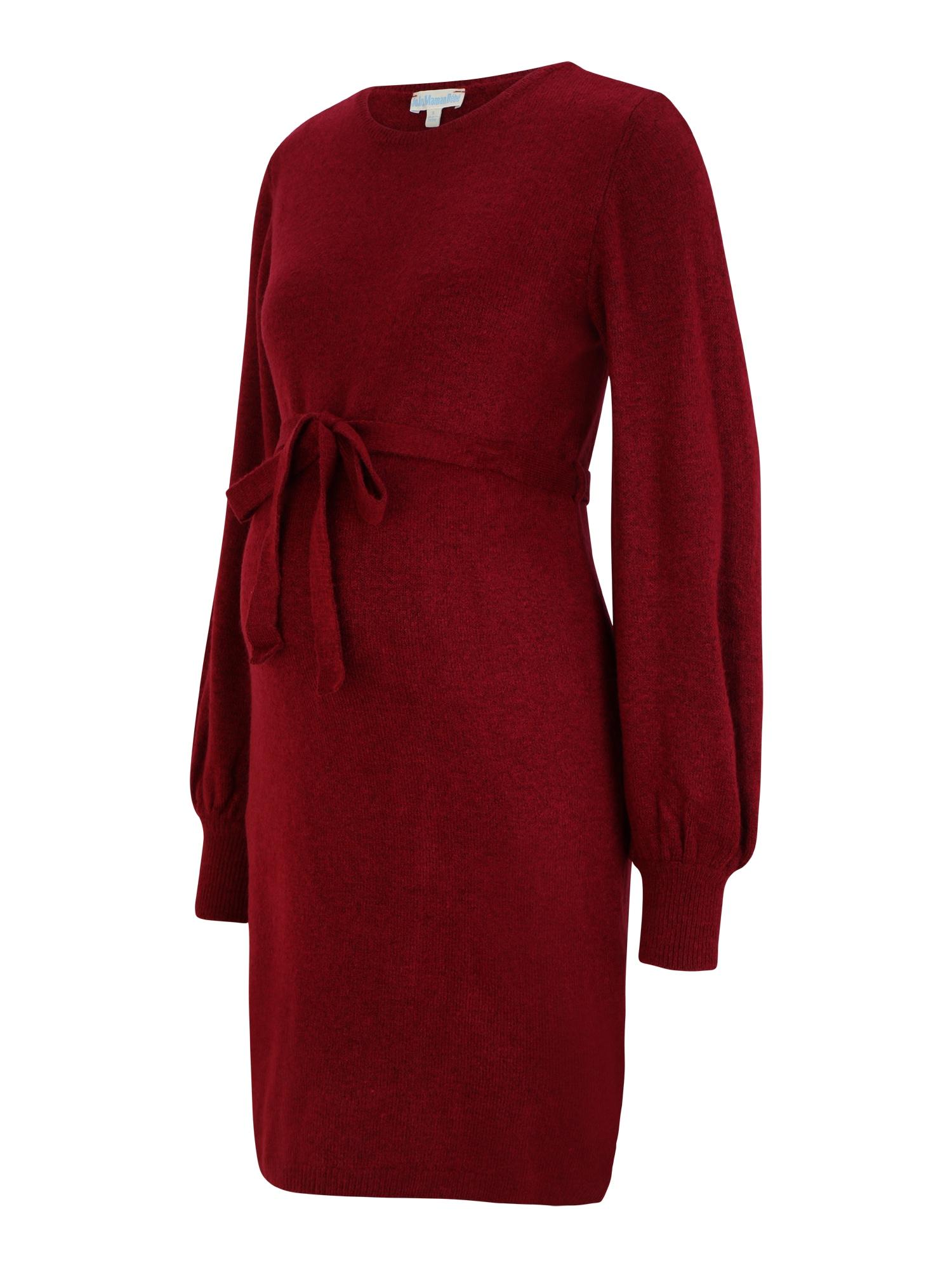 JoJo Maman Bébé Úpletové šaty  tmavě červená
