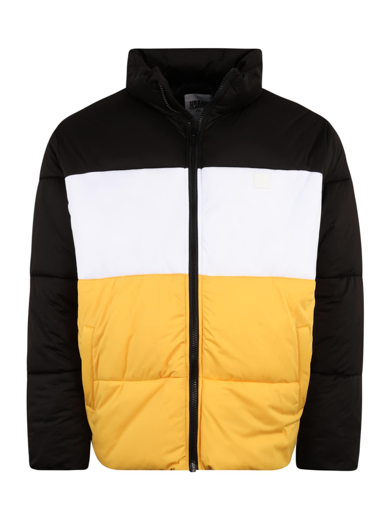 Urban Classics Big & Tall Demisezoninė striukė juoda / balta / geltona