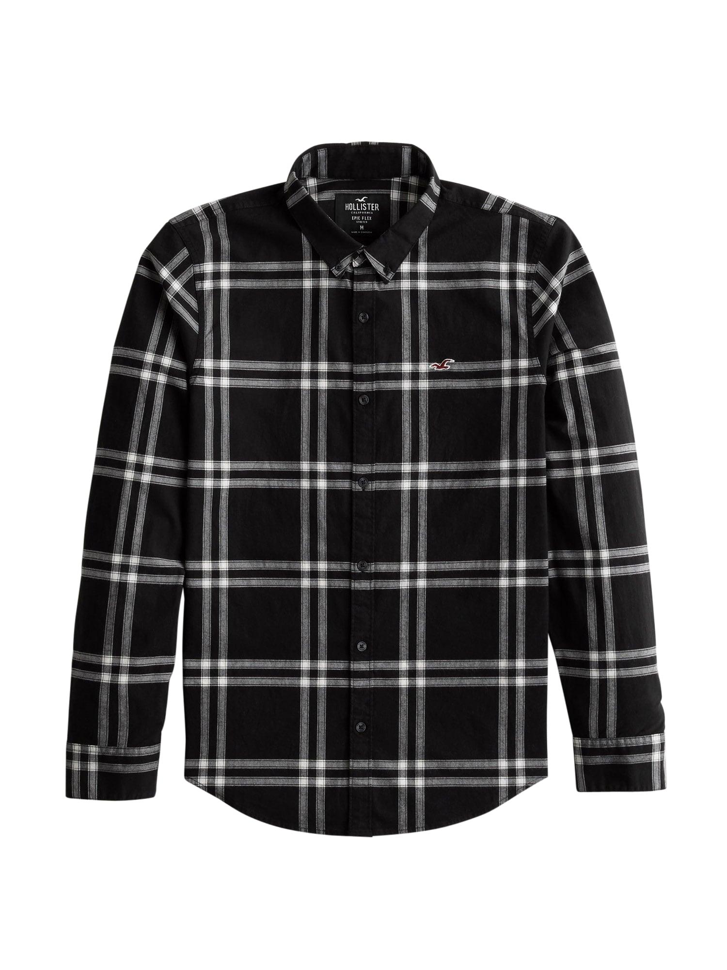 HOLLISTER Košile  černá / bílá