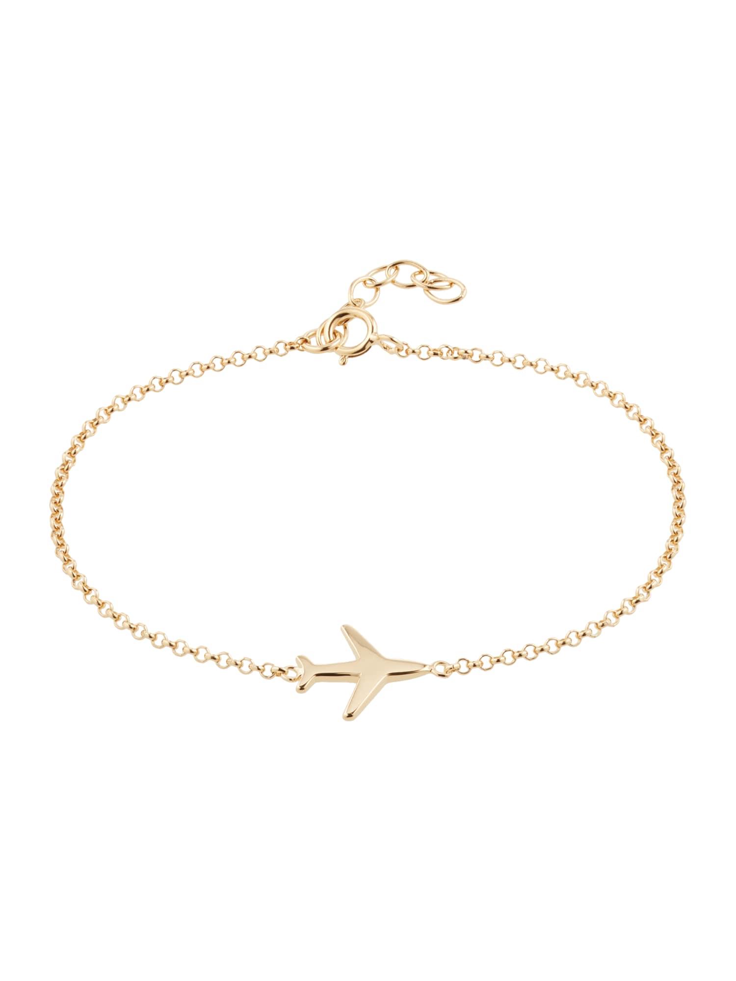ELLI Náramek 'Flugzeug'  zlatá