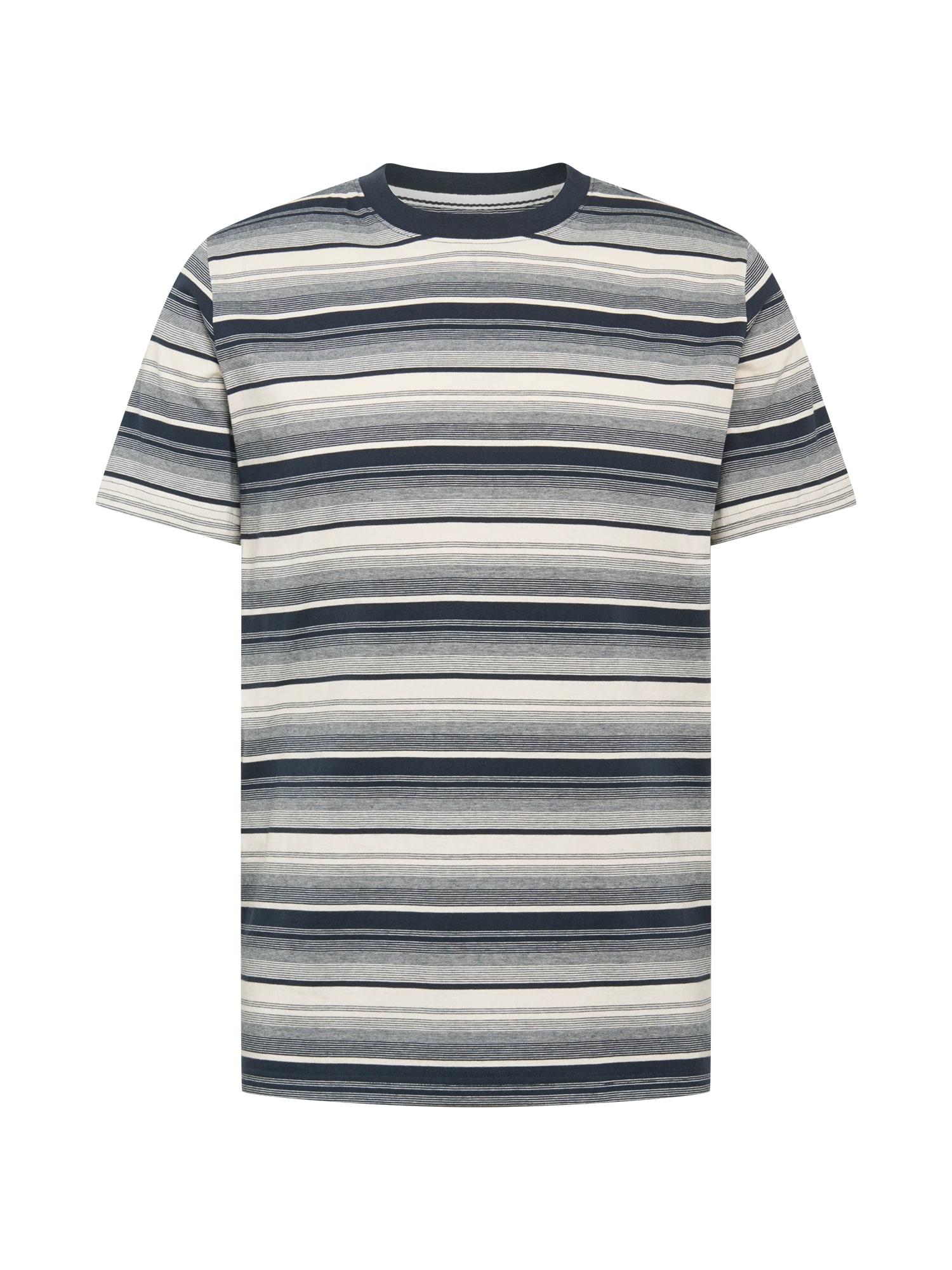 anerkjendt Marškinėliai tamsiai mėlyna / tamsiai mėlyna / balta