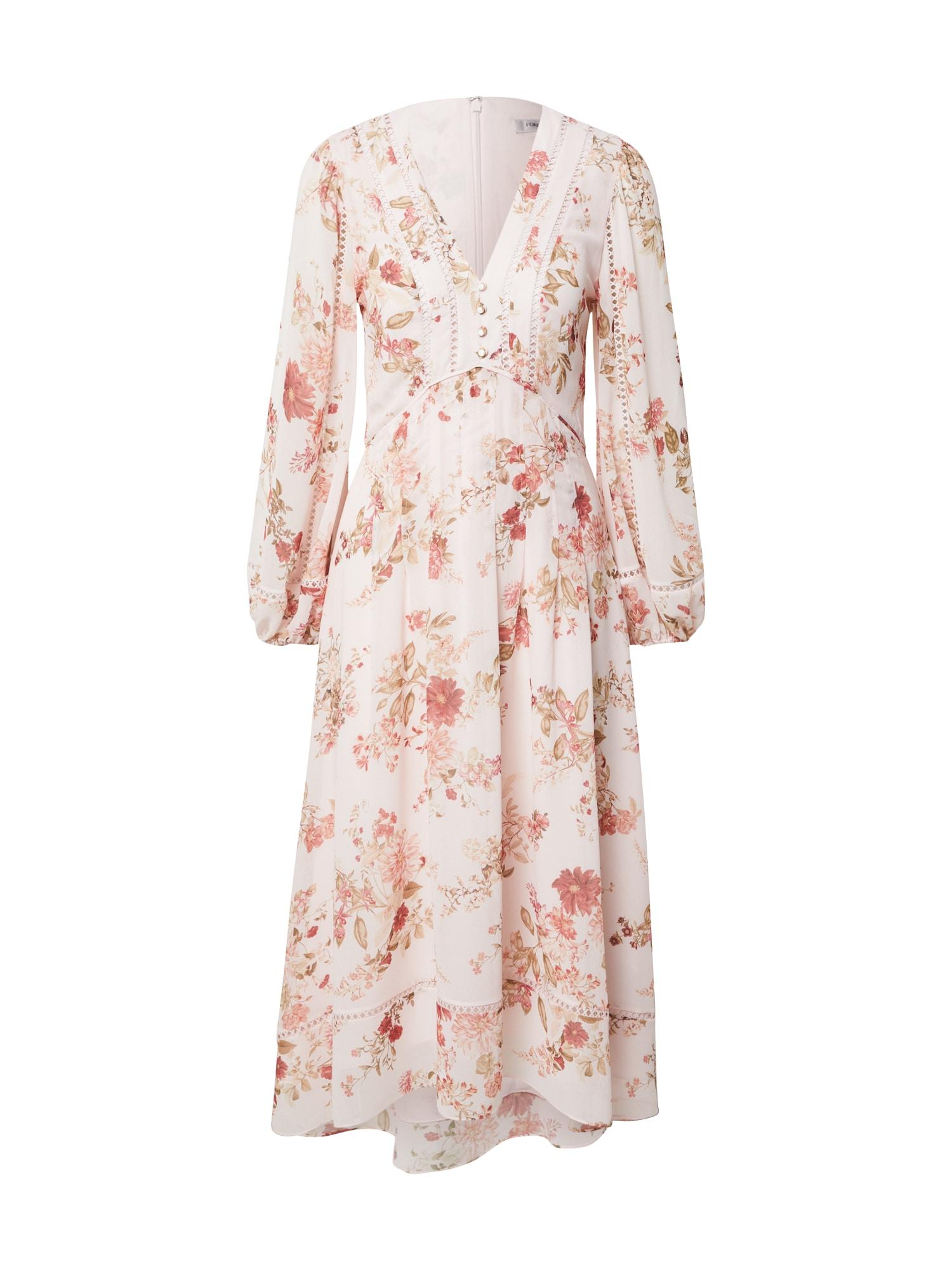 Forever New Šaty 'RAELYNN'  béžová / růžová