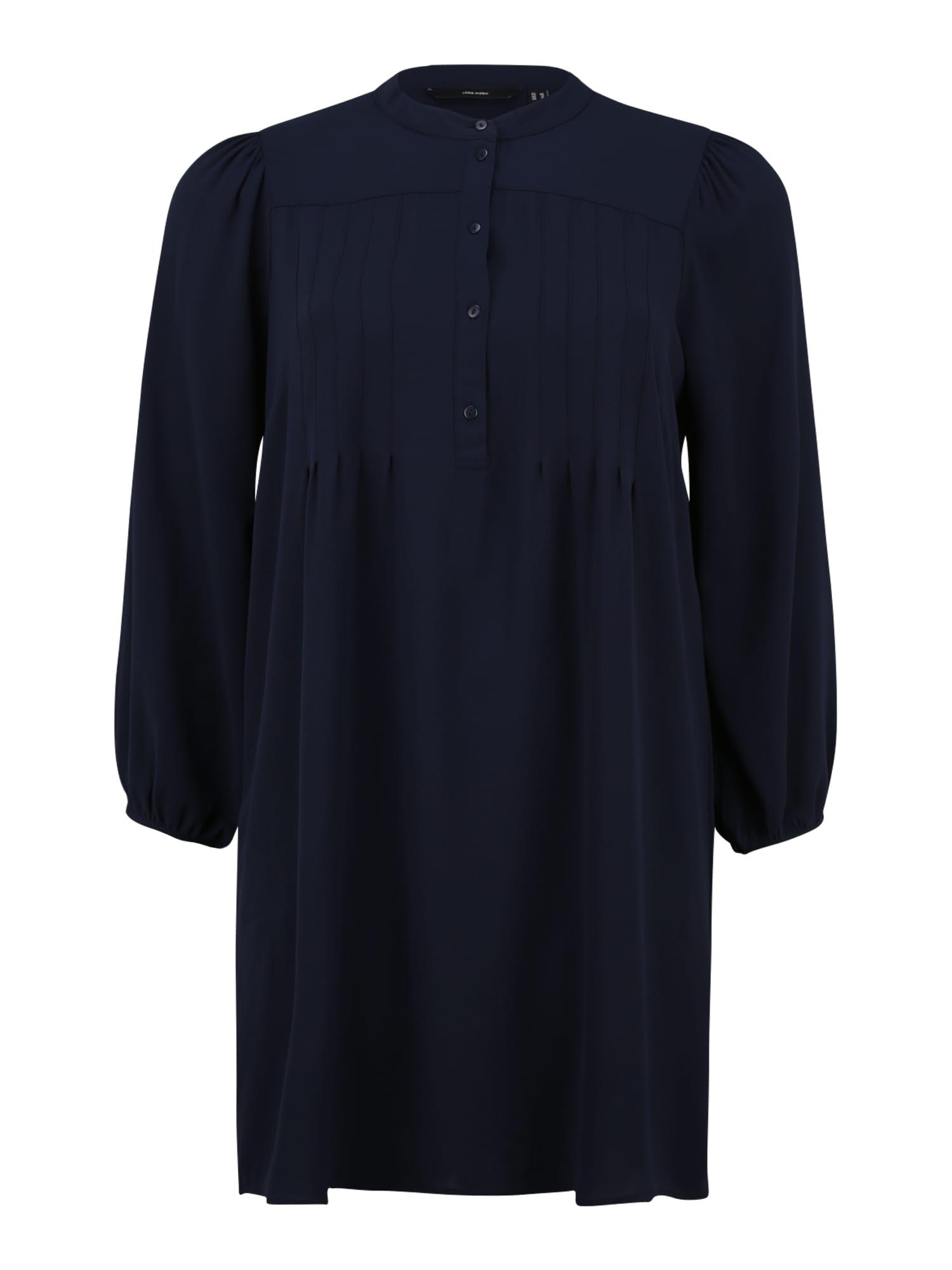 Vero Moda Curve Košilové šaty  marine modrá