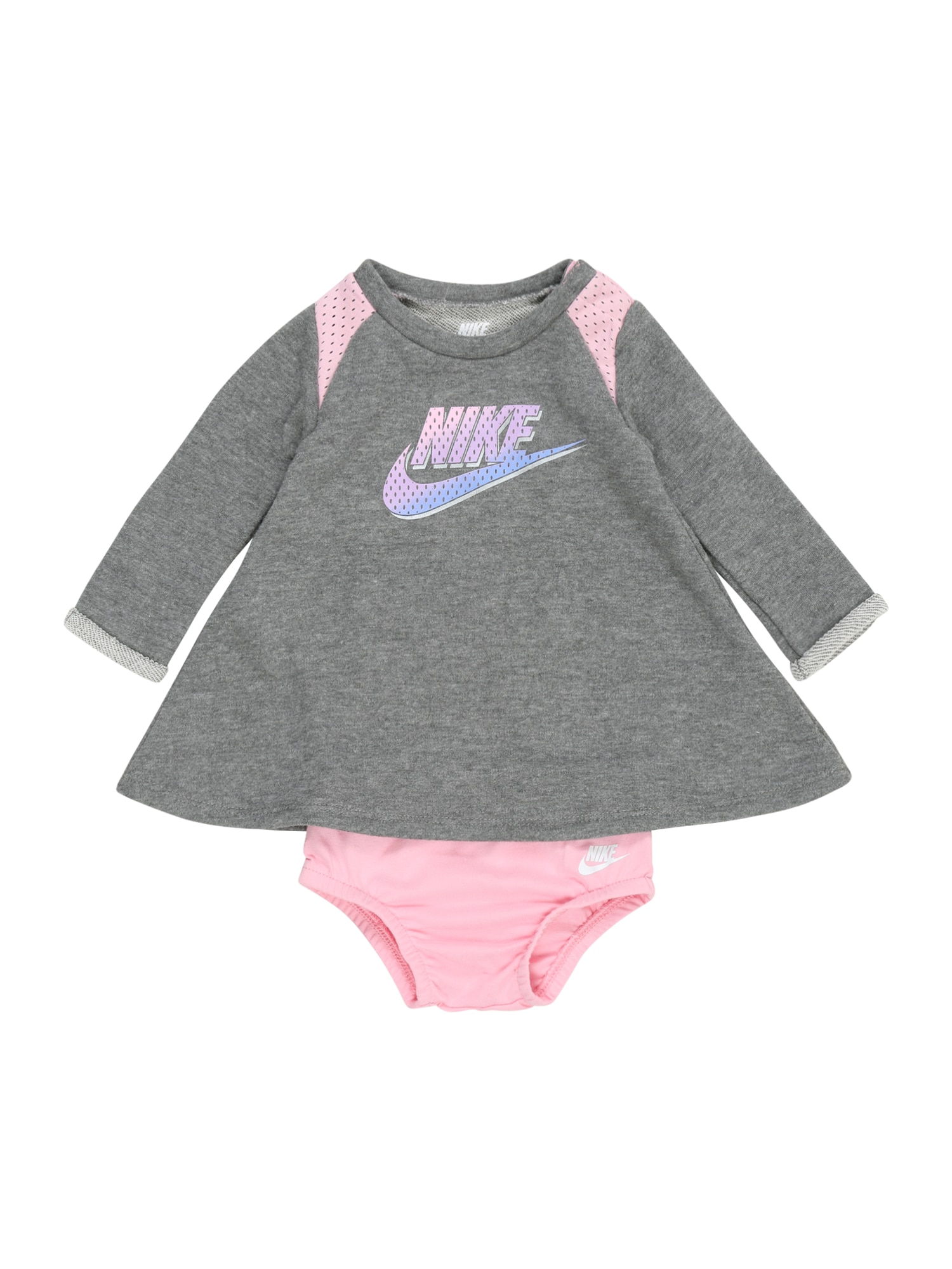 Nike Sportswear Suknelė 'TERRY' pilka / rožių spalva