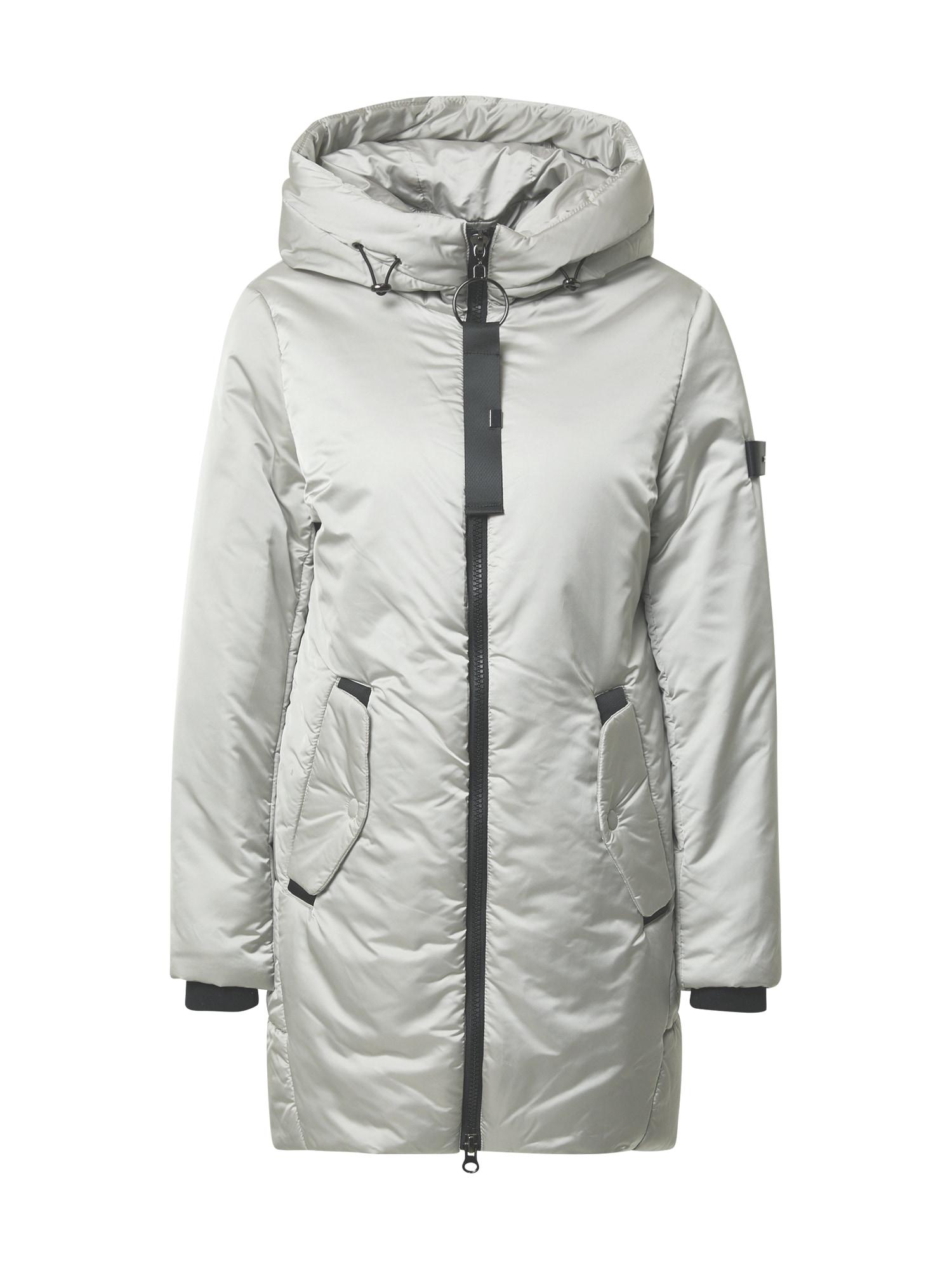 RINO & PELLE Žieminis paltas šviesiai pilka / juoda