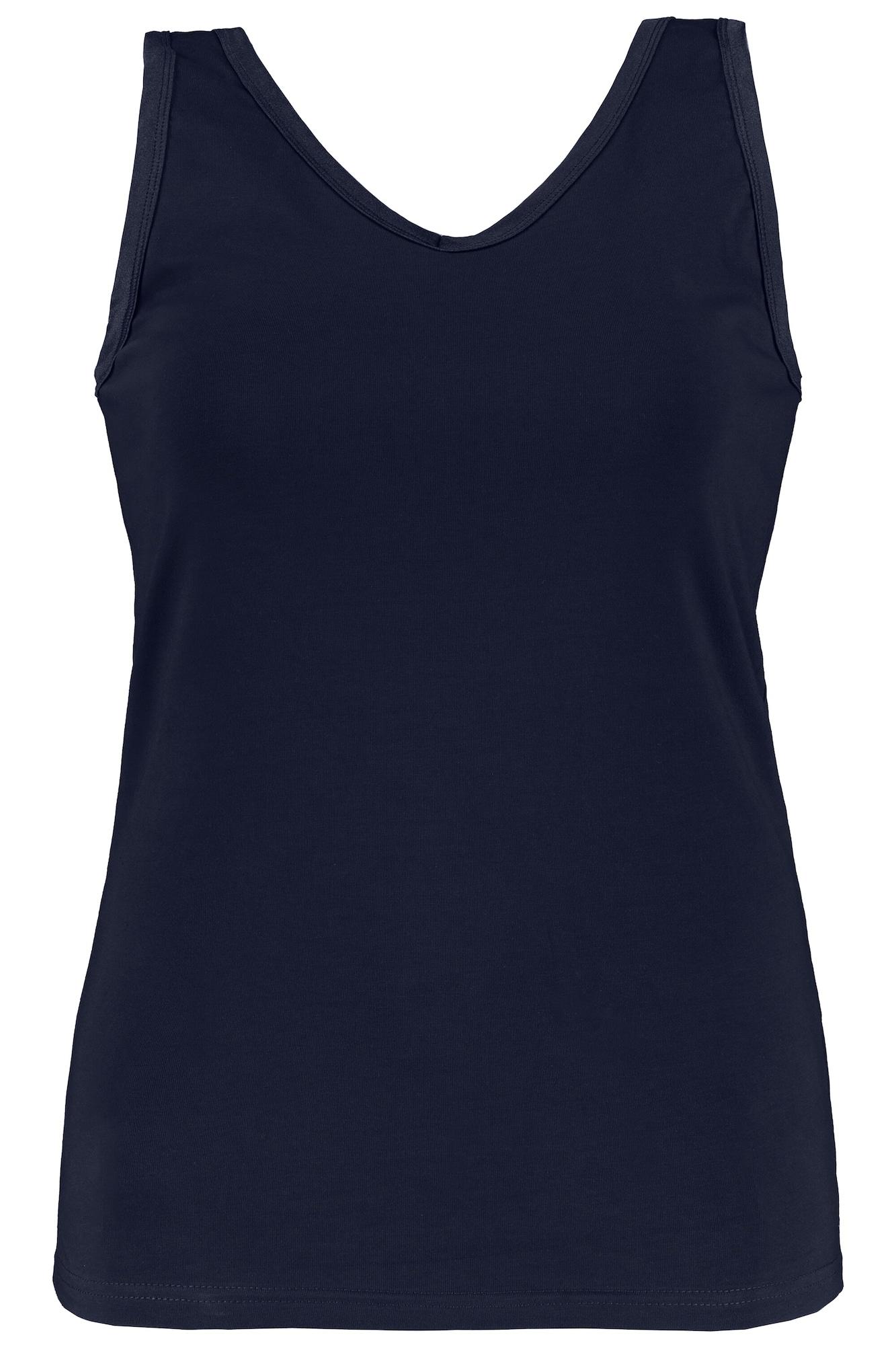 Ulla Popken Apatiniai marškinėliai tamsiai mėlyna jūros spalva