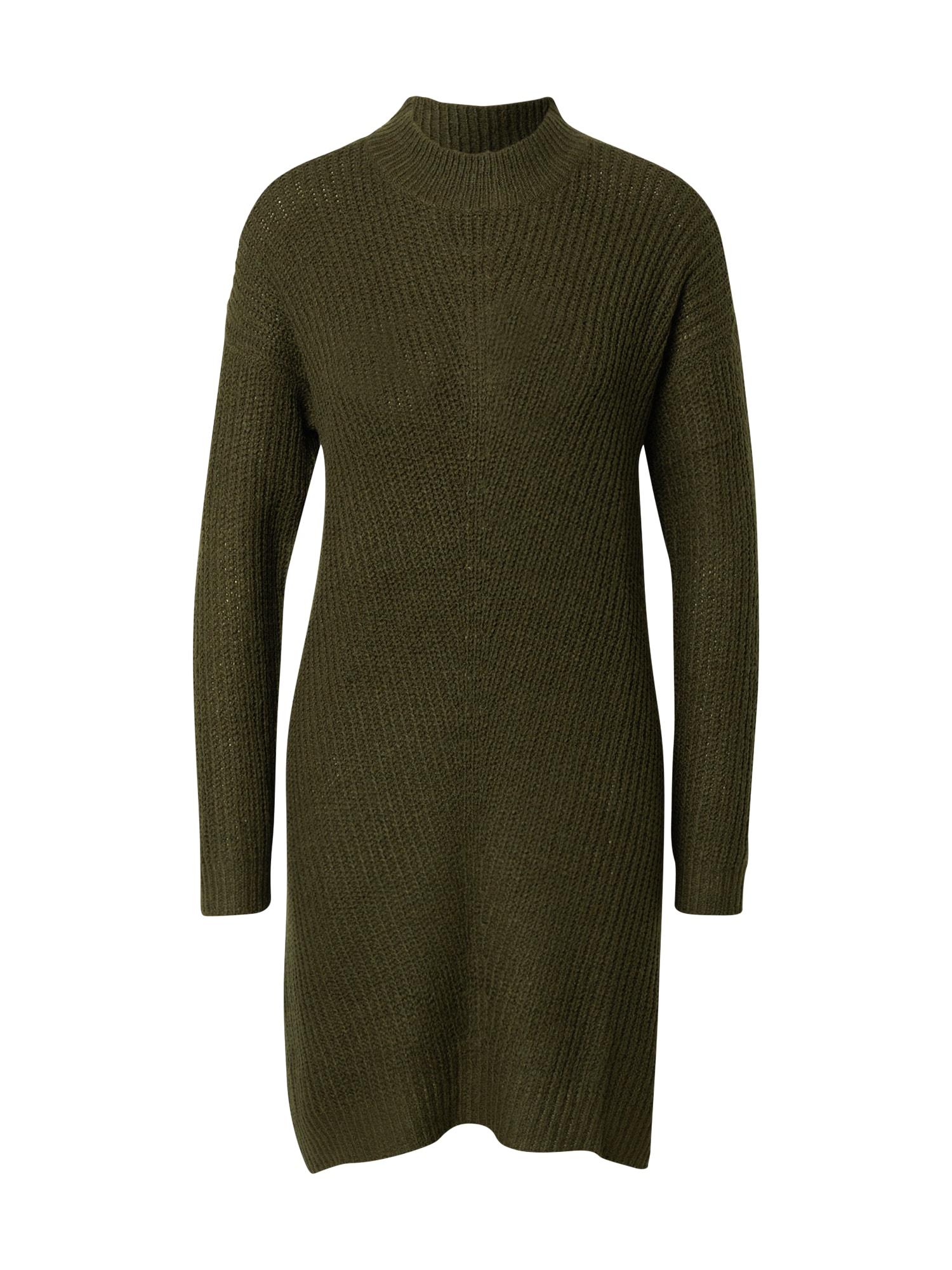 JACQUELINE de YONG Úpletové šaty 'Miggy Megan'  tmavě zelená