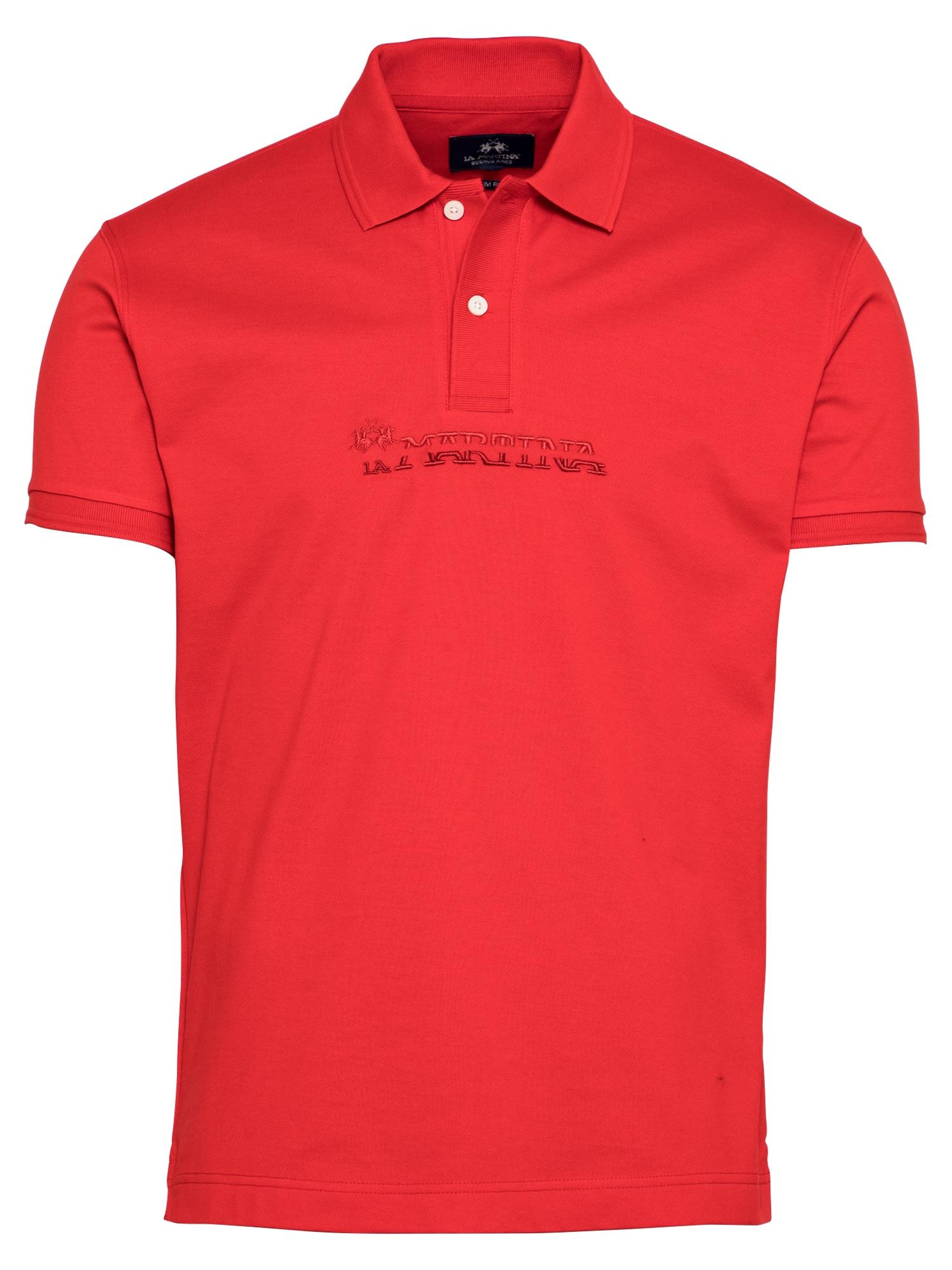La Martina Marškinėliai raudona / tamsiai raudona