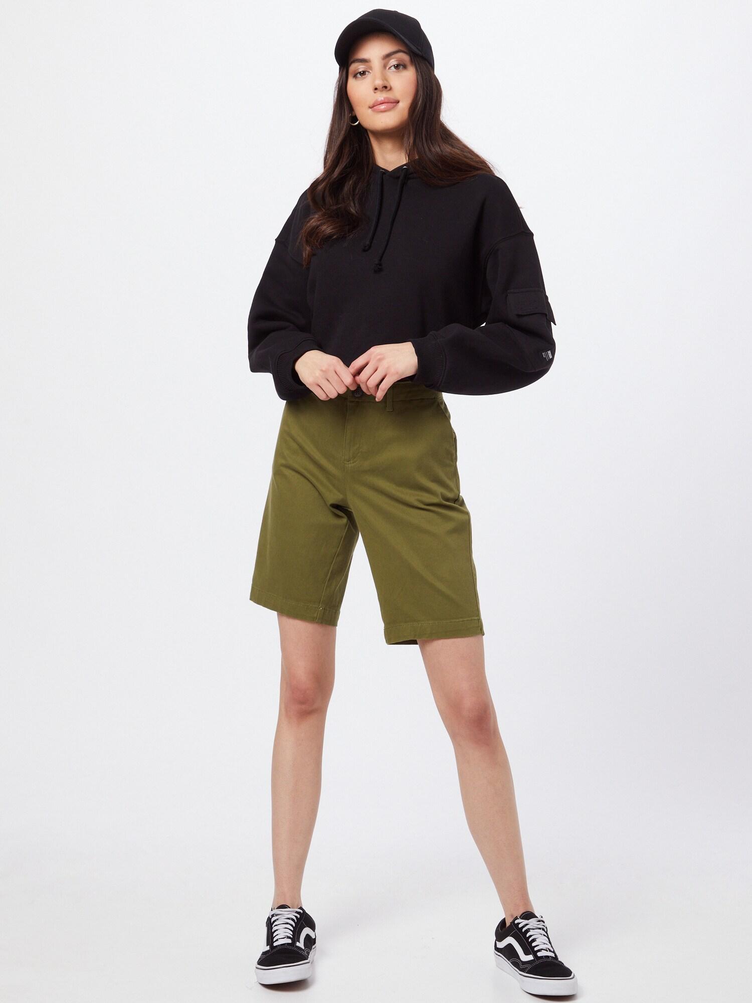 Superdry Chino nohavice  olivová.