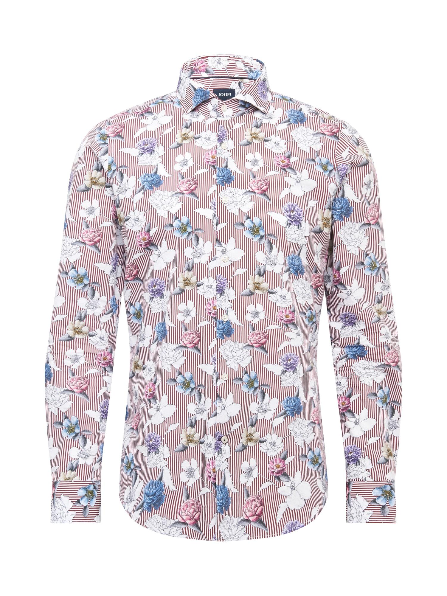 JOOP! Marškiniai balta / skaisti avietinė ar rubino spalva / šviesiai mėlyna / tamsiai violetinė