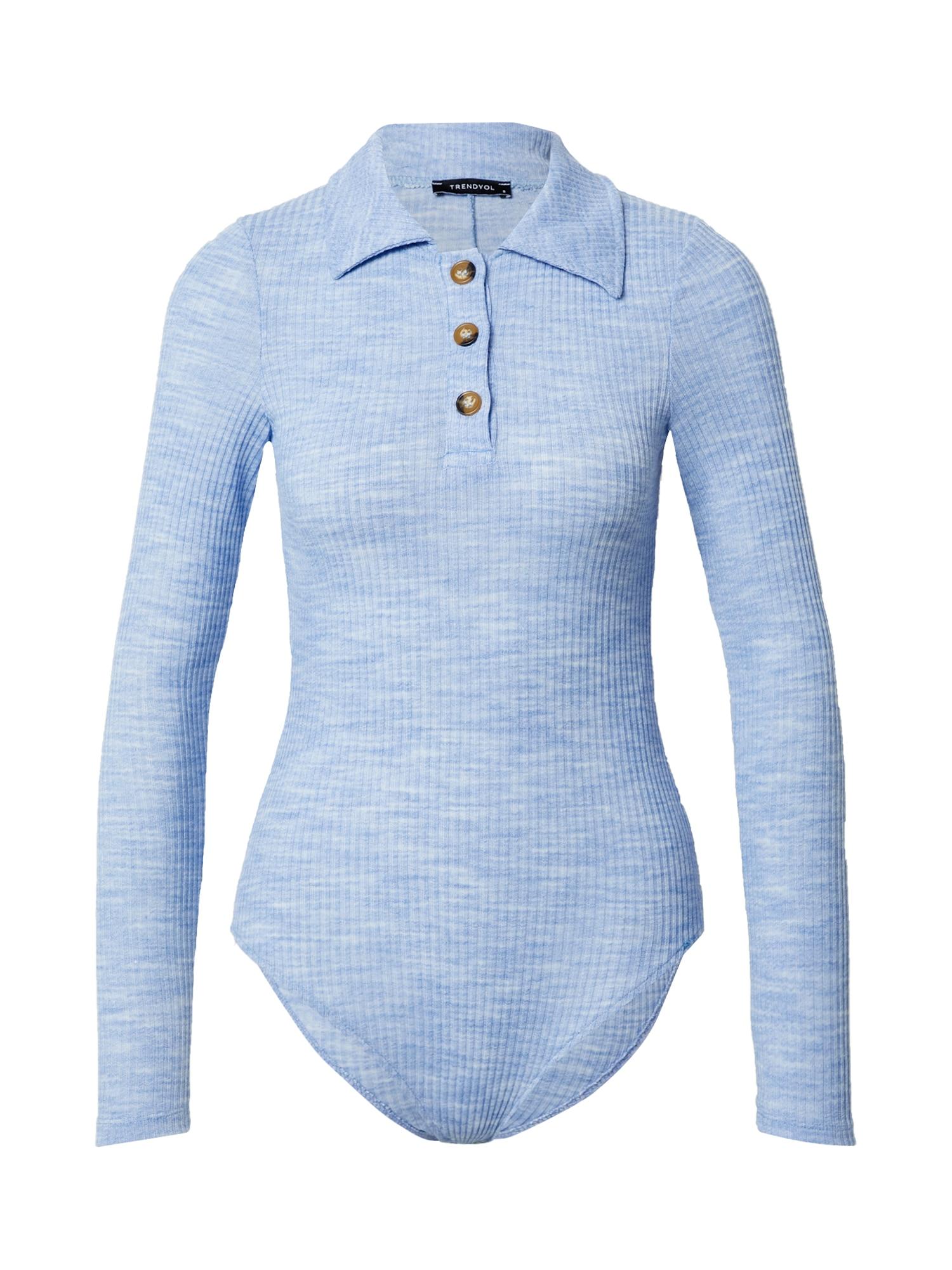 Trendyol Marškinėliai-glaustinukė šviesiai mėlyna