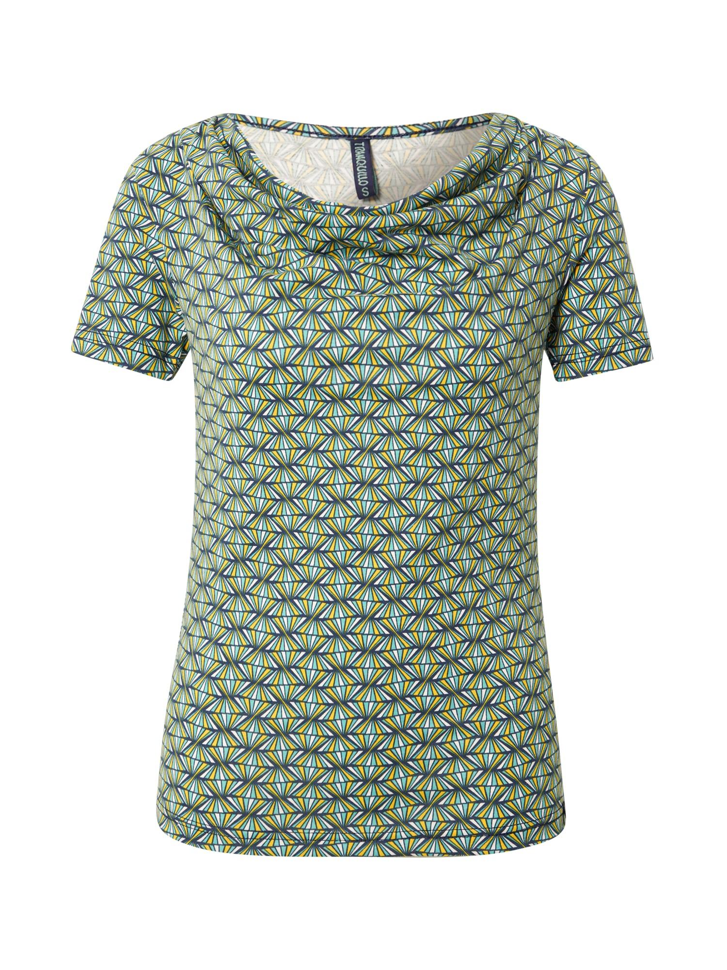 Tranquillo Marškinėliai nefrito spalva / tamsiai mėlyna / balta / geltona