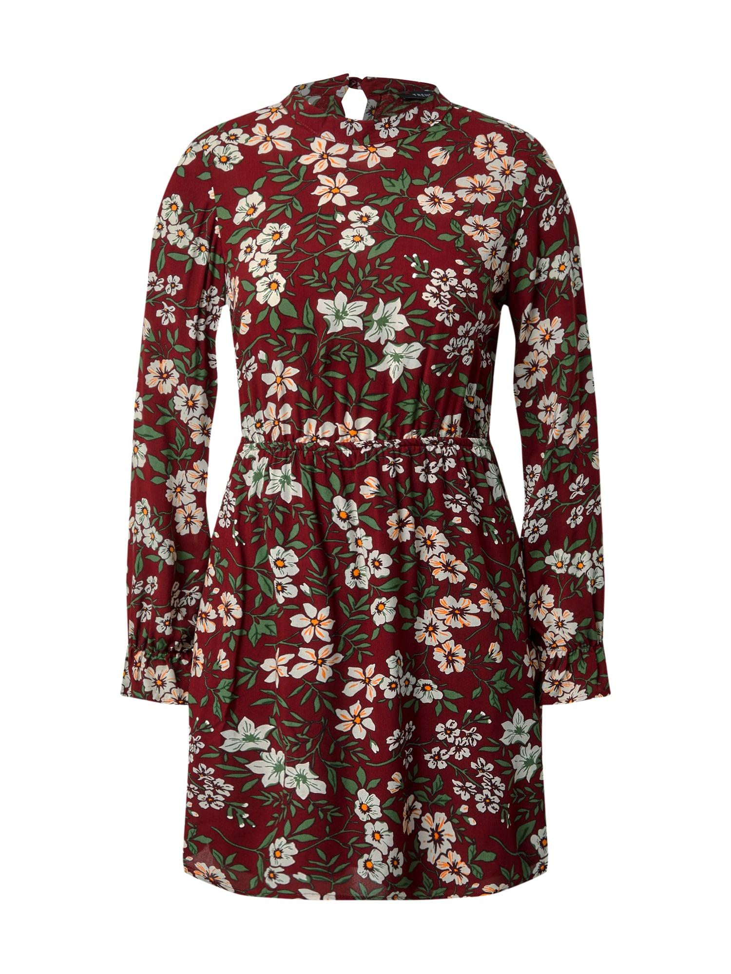 Trendyol Šaty  burgundská červeň / mix barev