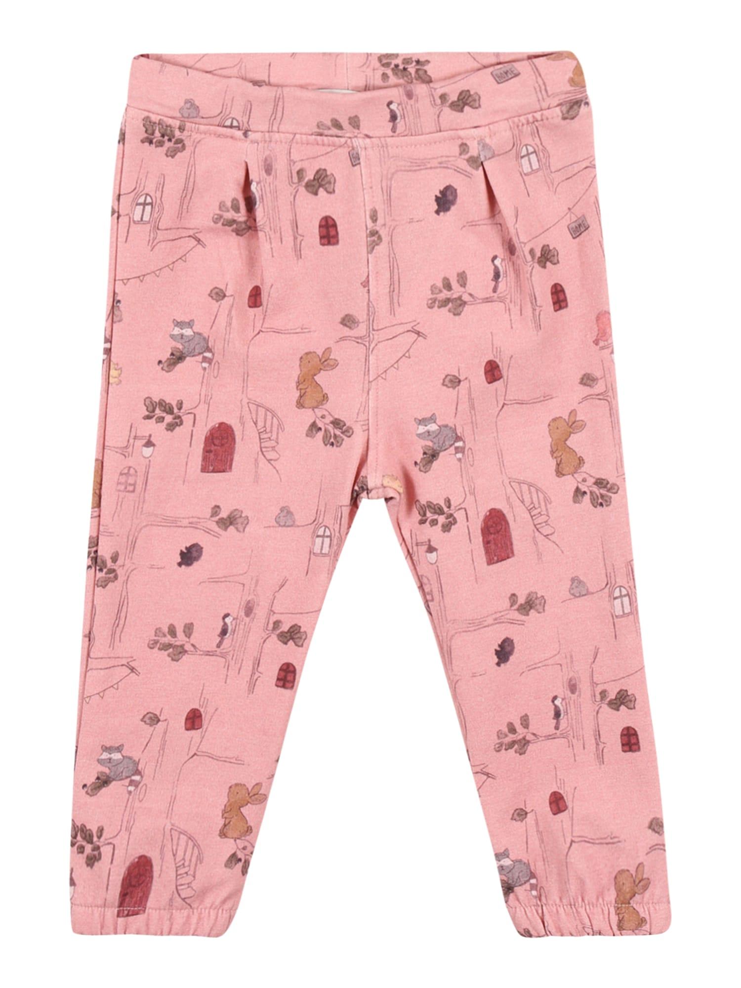 NAME IT Kelnės 'Sille' ryškiai rožinė spalva / mišrios spalvos