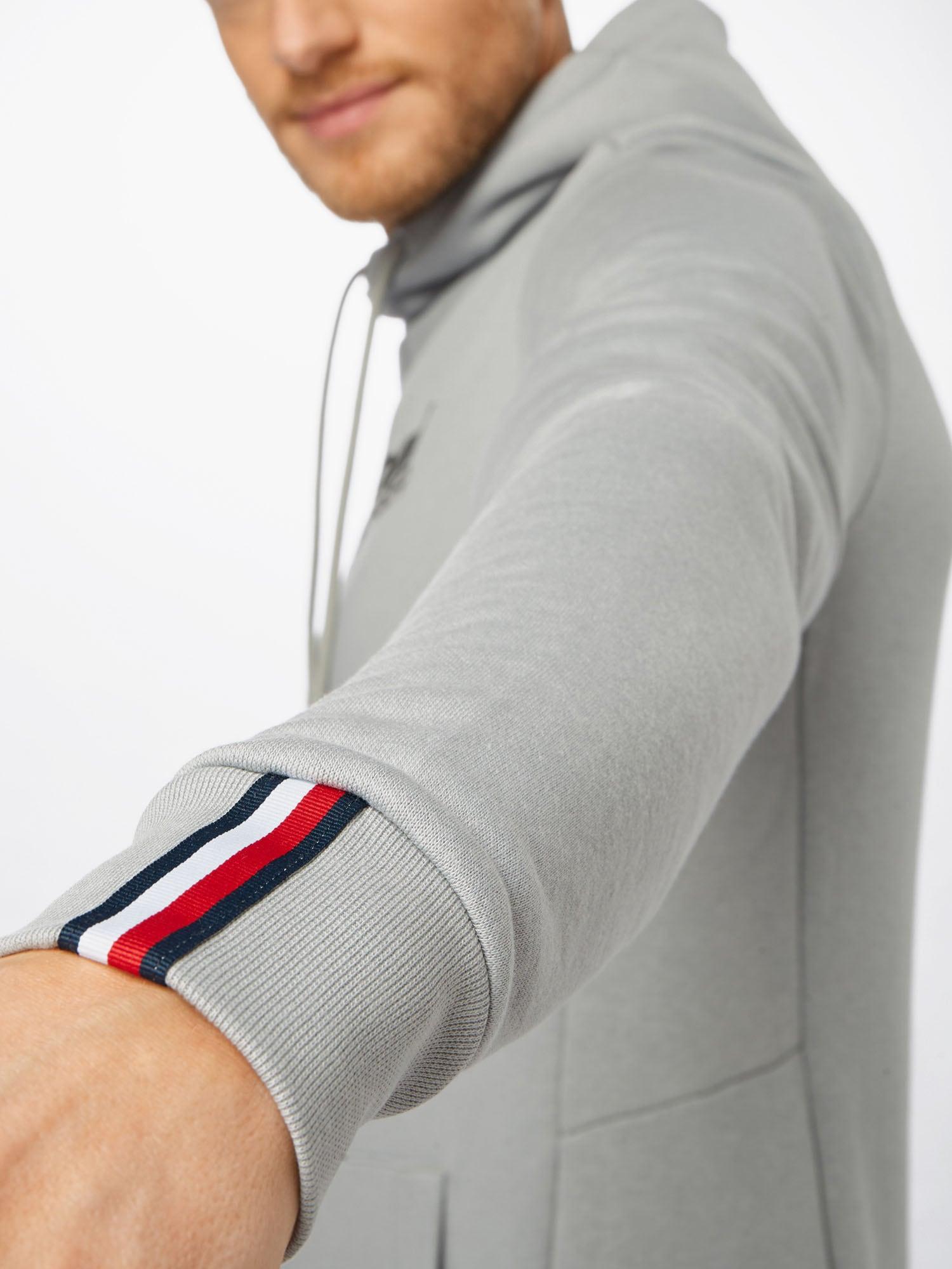 Tommy Sport Športová mikina  sivá / námornícka modrá / červená / biela.