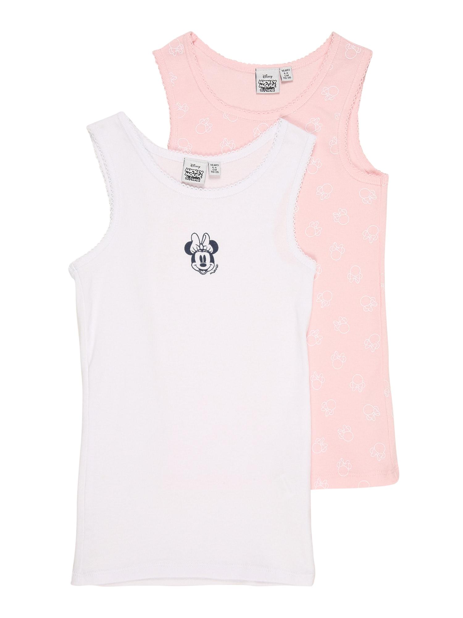 OVS Apatiniai marškinėliai balta / šviesiai rožinė / nakties mėlyna