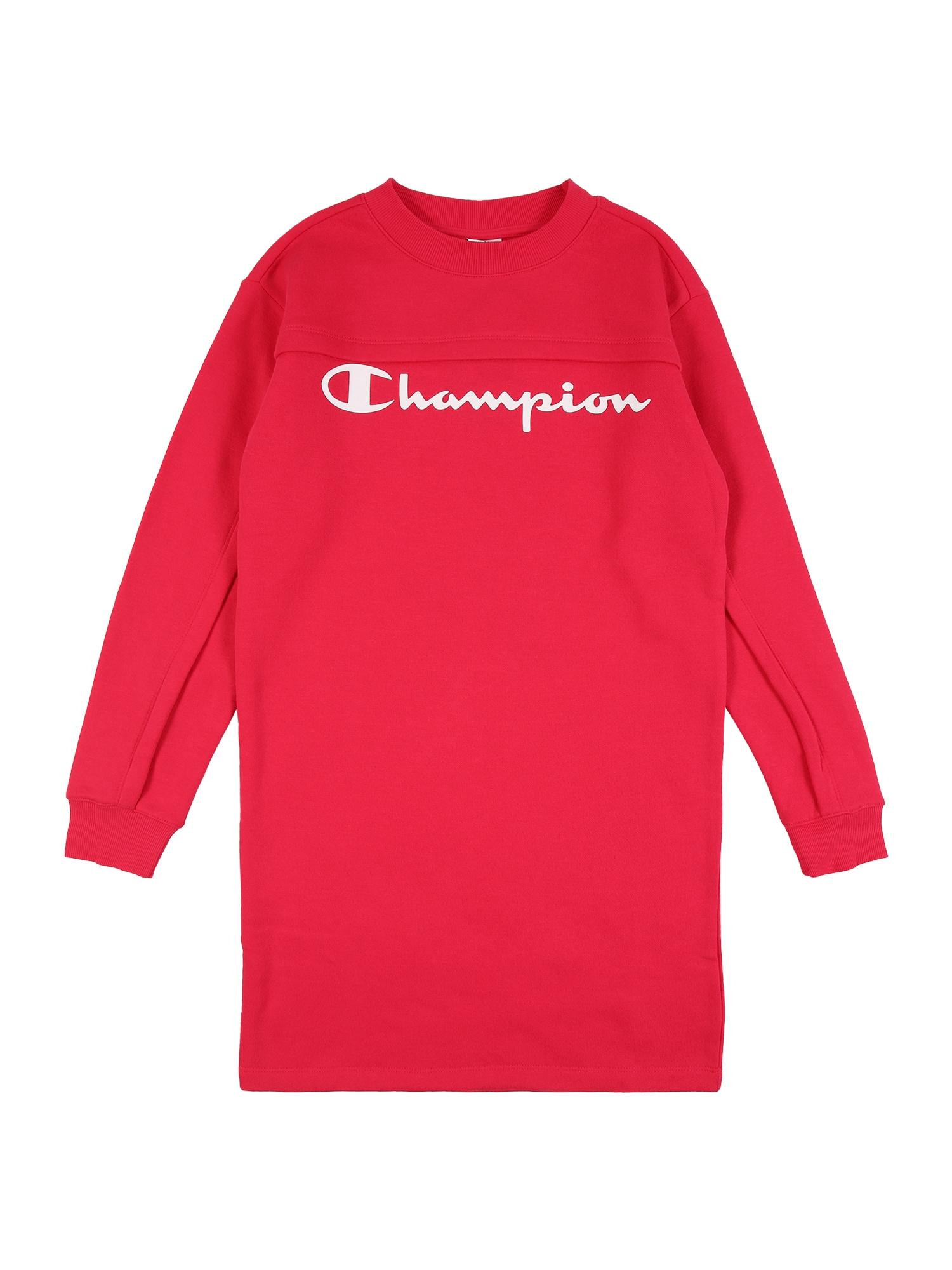 Champion Authentic Athletic Apparel Šaty  ružová / biela