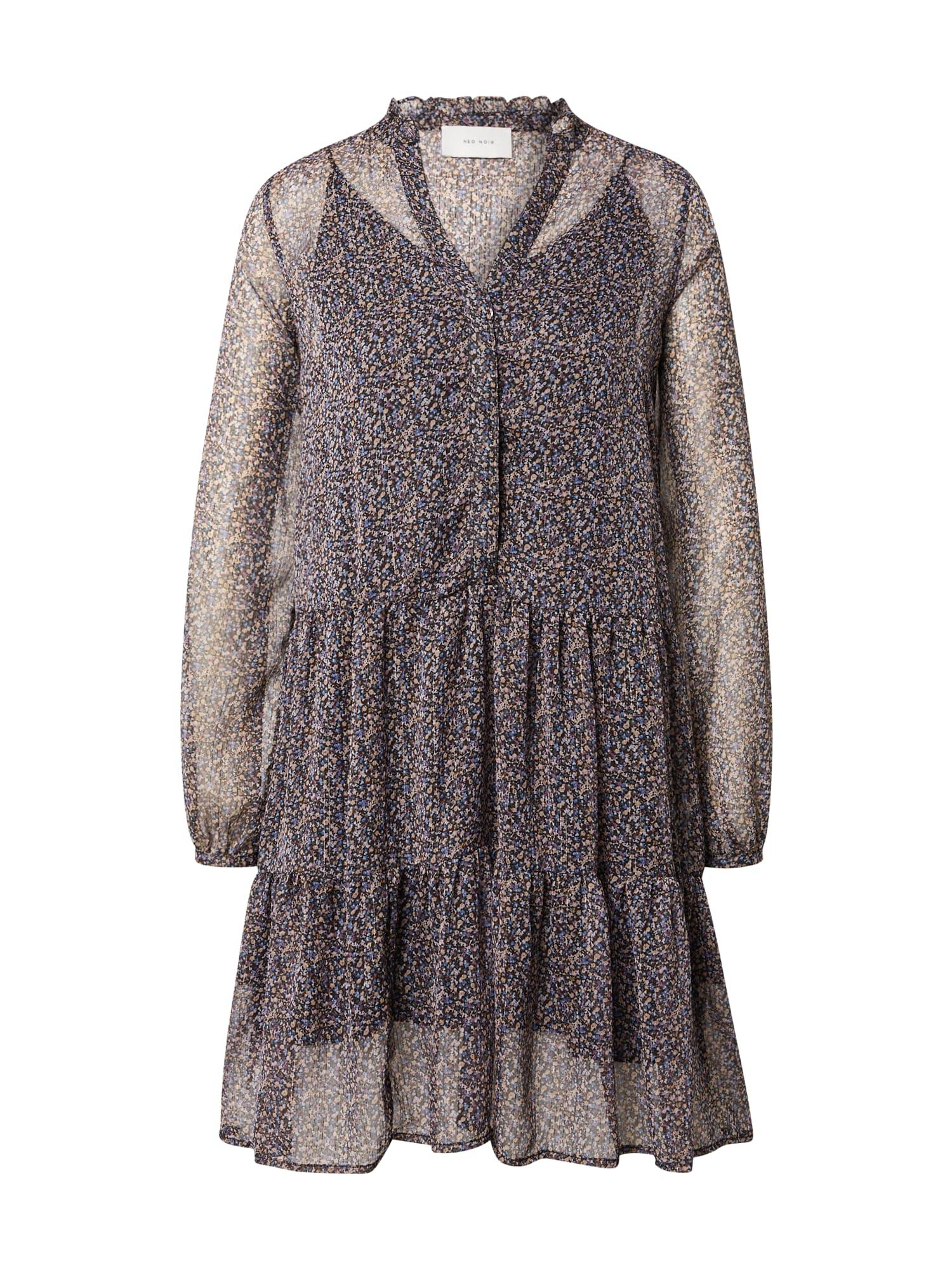 Neo Noir Košilové šaty 'Federica'  hnědá / mix barev