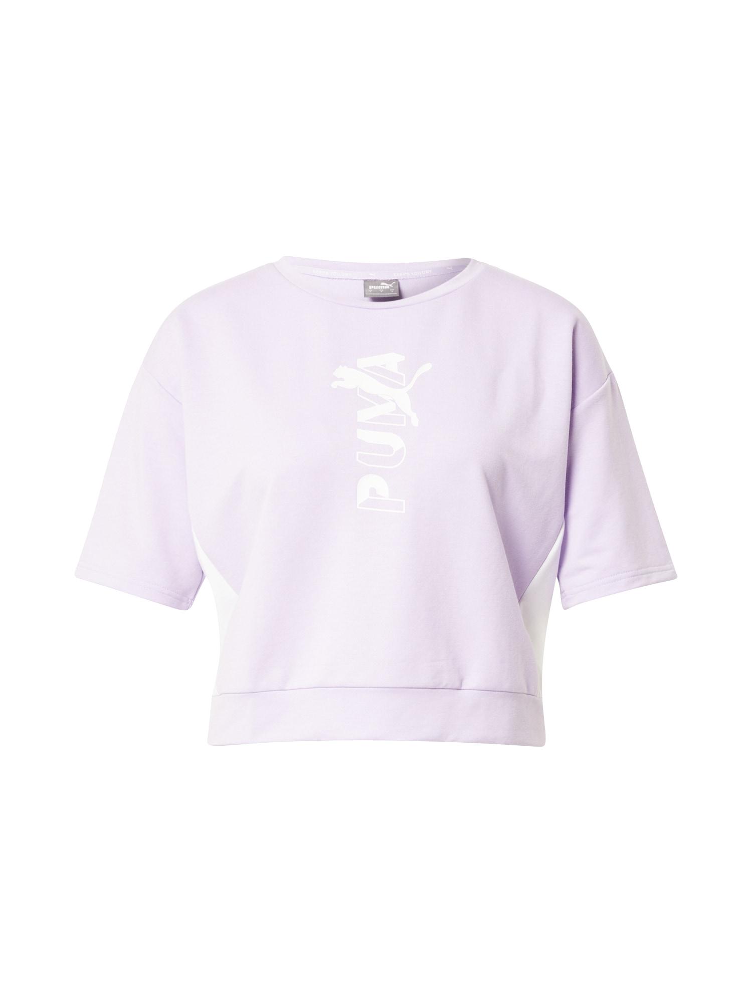 PUMA Sportiniai marškinėliai šviesiai violetinė / balta