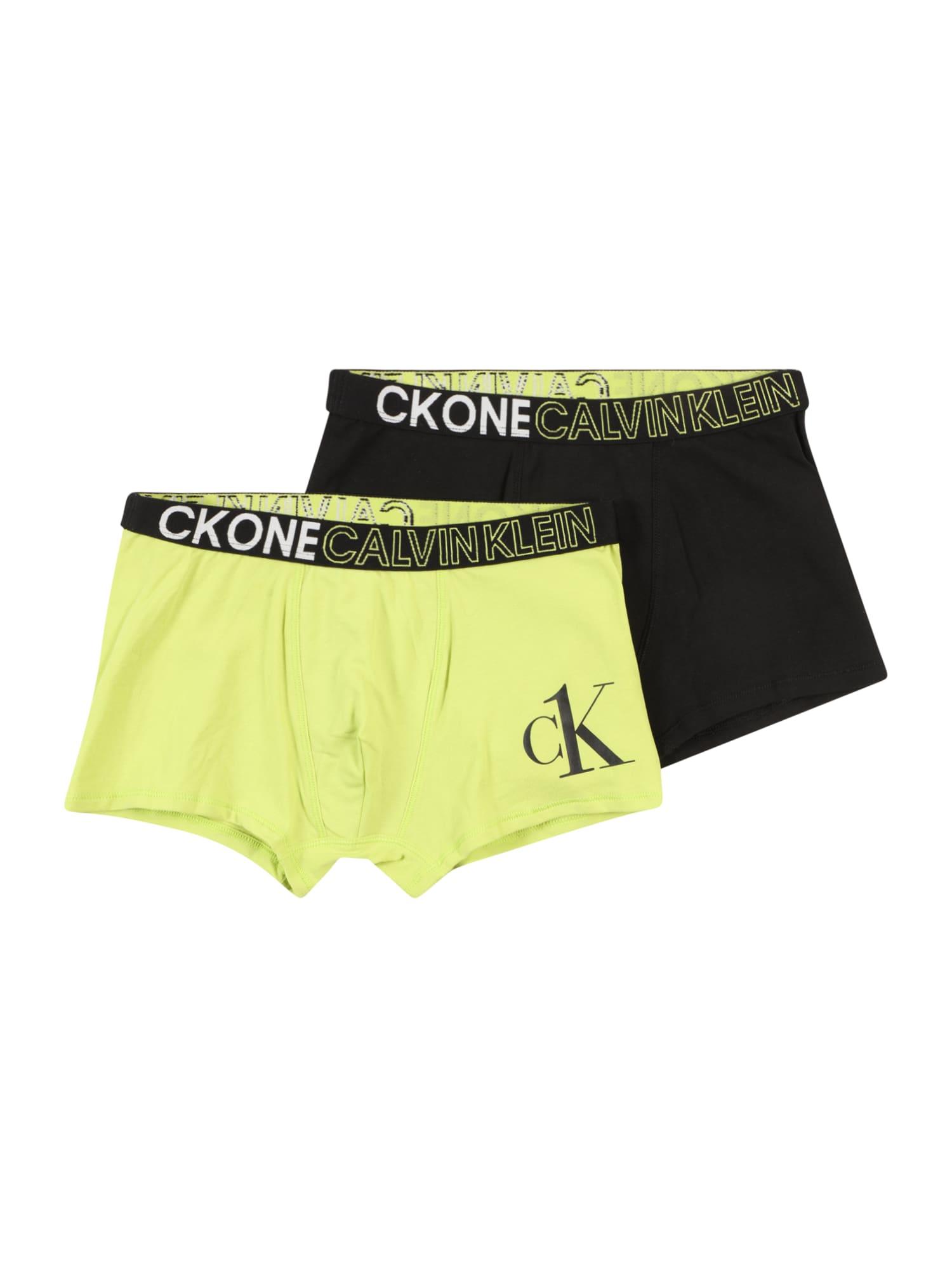Calvin Klein Underwear Apatinės kelnaitės šviesiai žalia / juoda