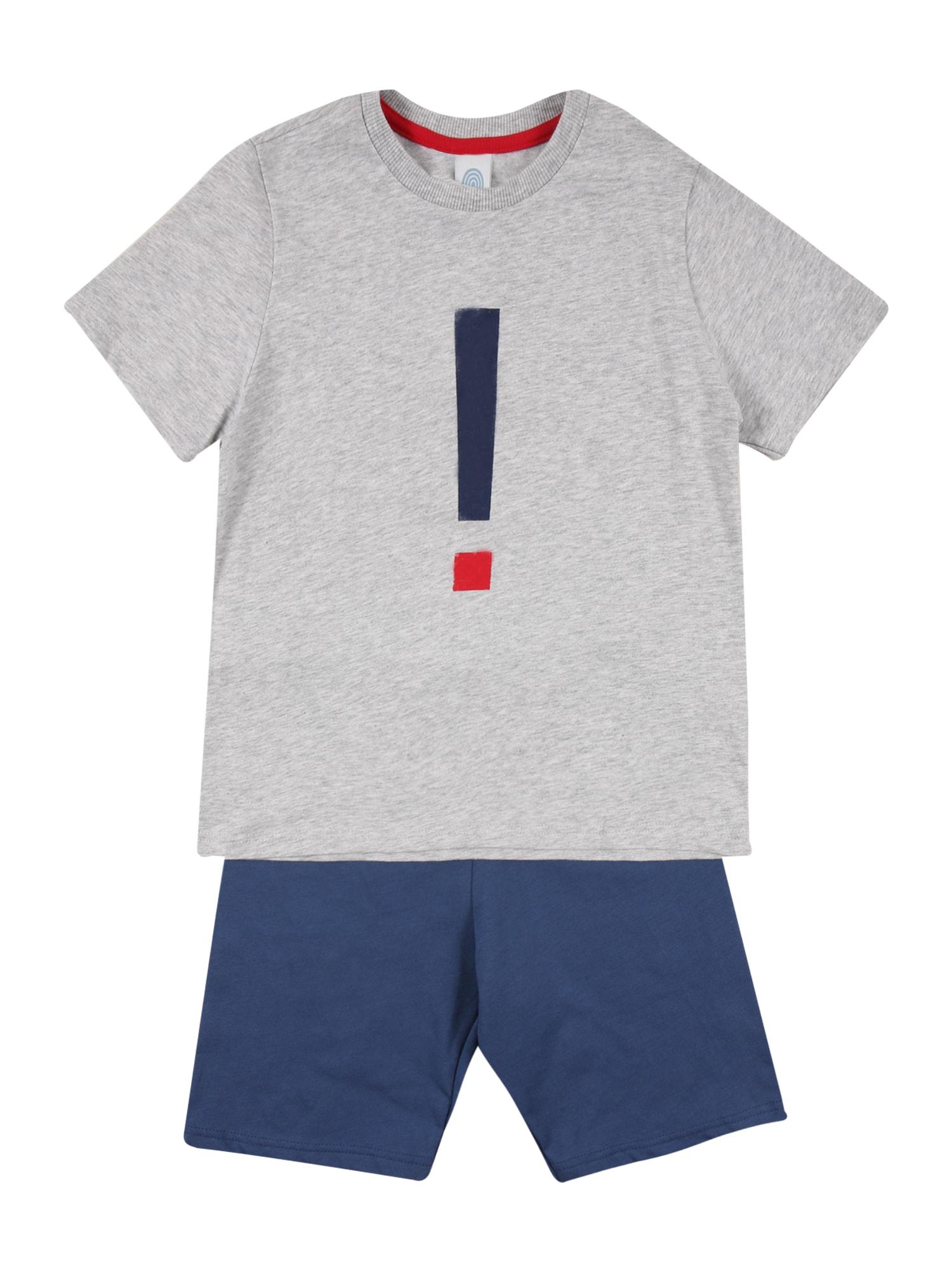SANETTA Miego kostiumas šviesiai pilka / mėlyna / raudona