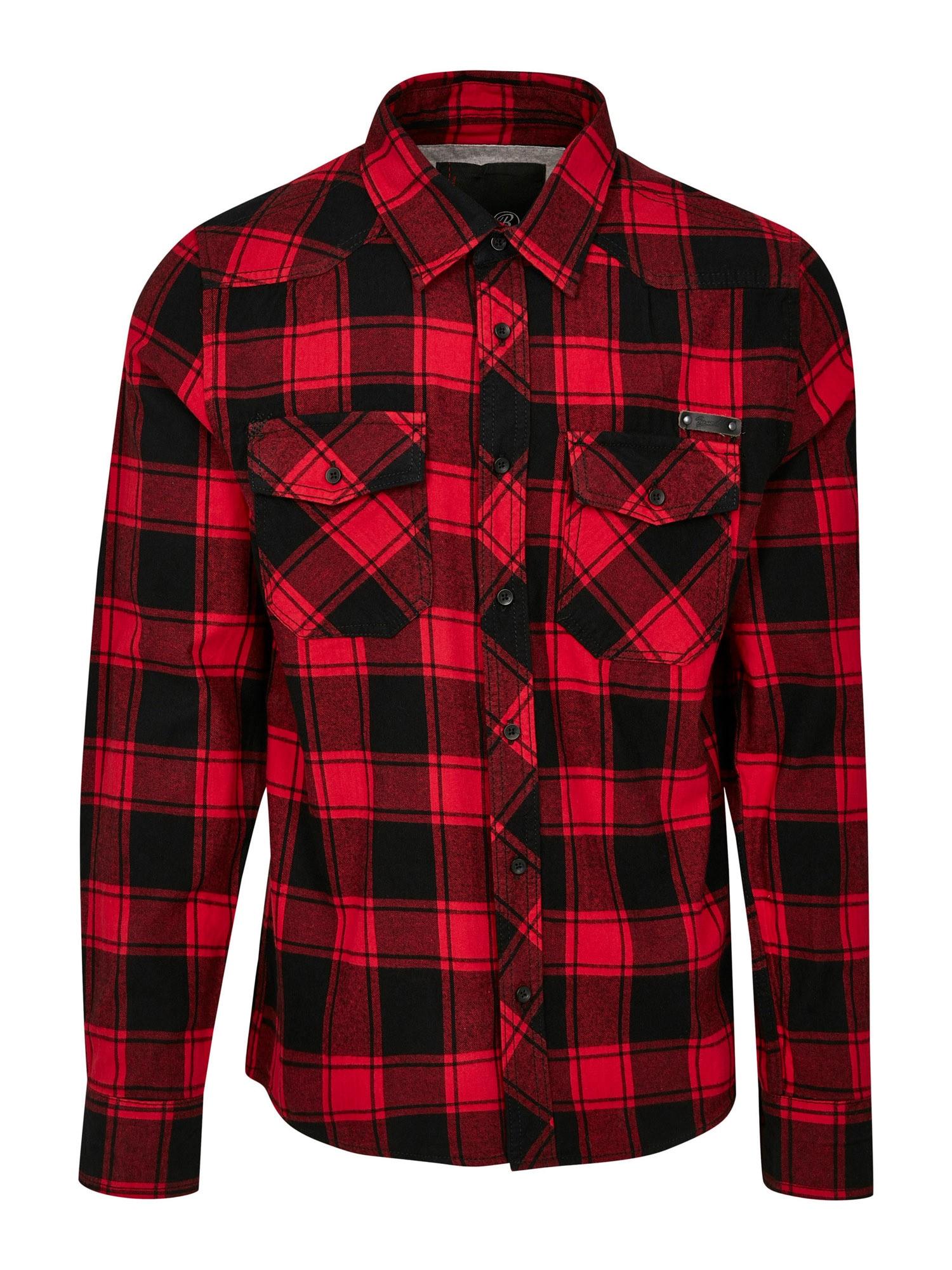 Brandit Marškiniai juoda / raudona