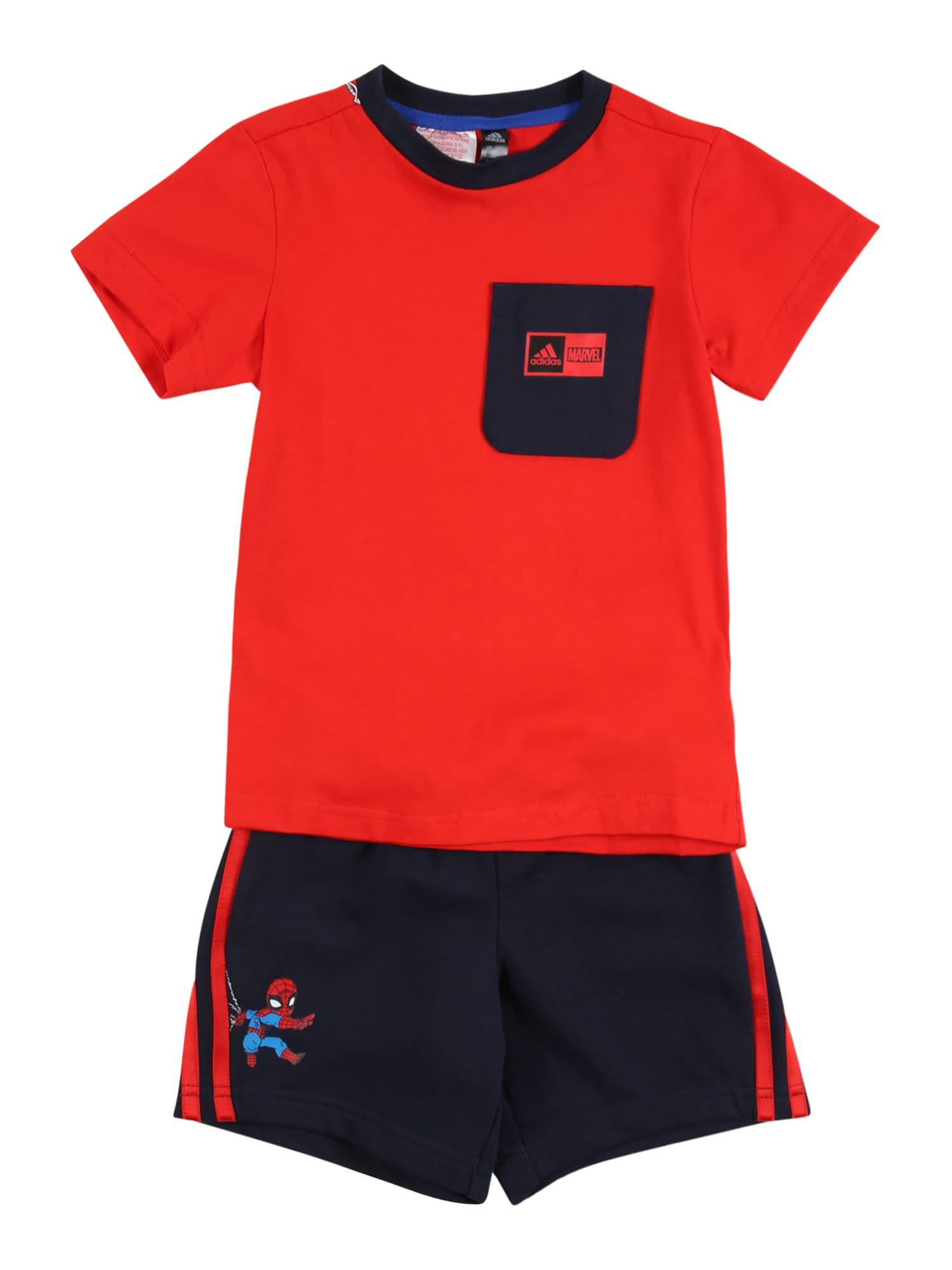 ADIDAS PERFORMANCE Sportinis kostiumas raudona