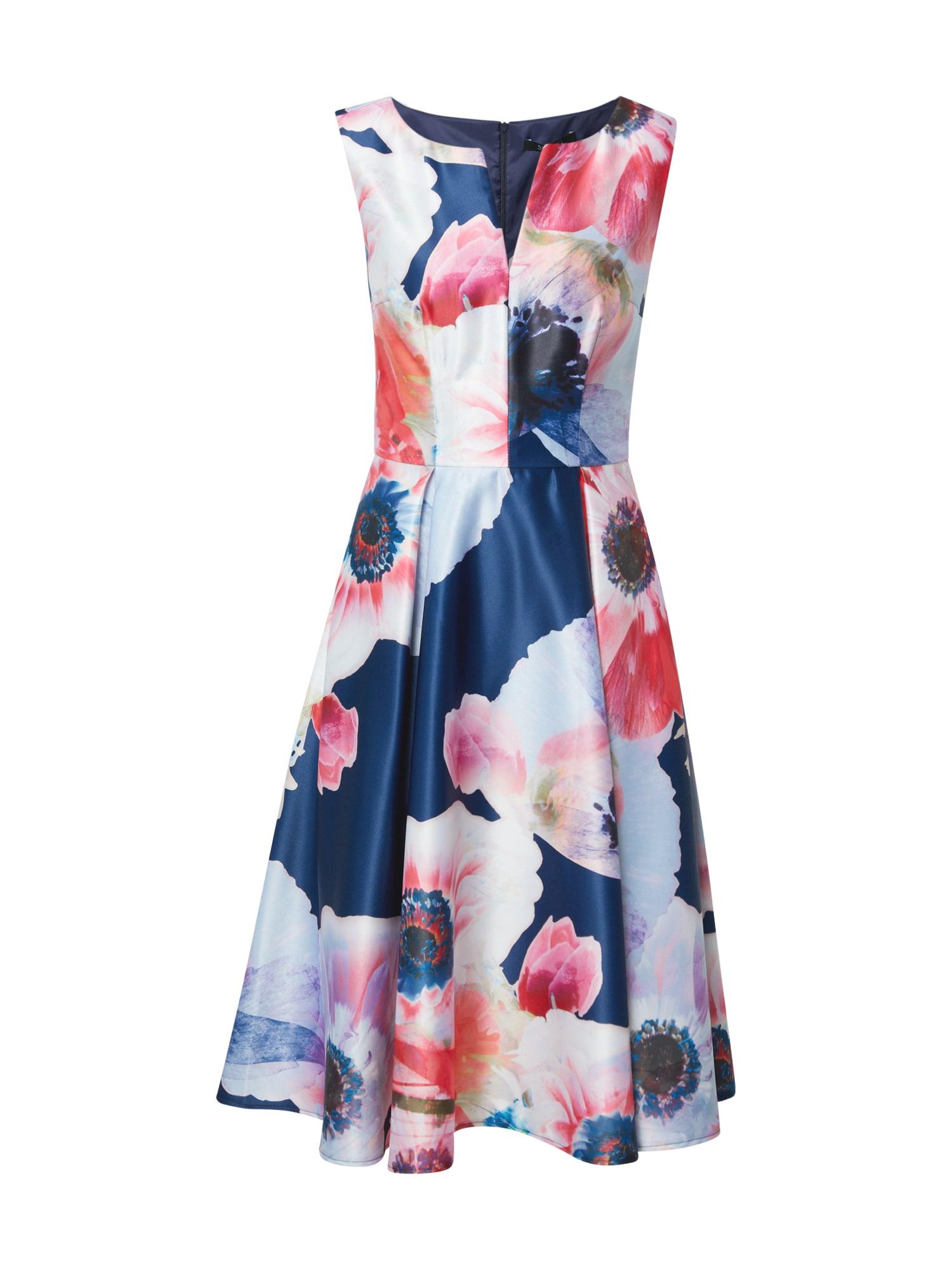 SWING Kokteilinė suknelė tamsiai mėlyna / azuro spalva / ryškiai rožinė spalva / šviesiai violetinė / mišrios spalvos