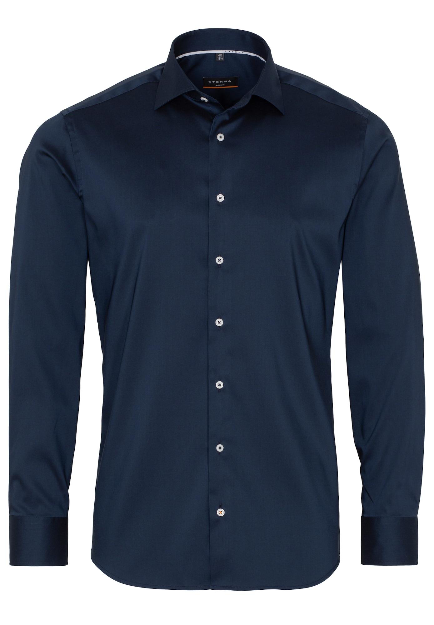 ETERNA Dalykinio stiliaus marškiniai tamsiai mėlyna
