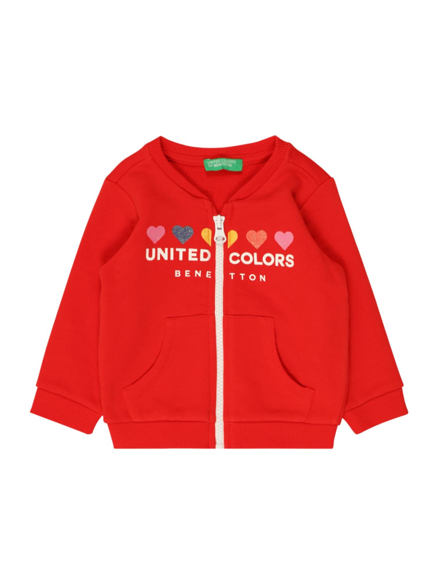 UNITED COLORS OF BENETTON Džemperis raudona / balta / šviesiai rožinė / mišrios spalvos