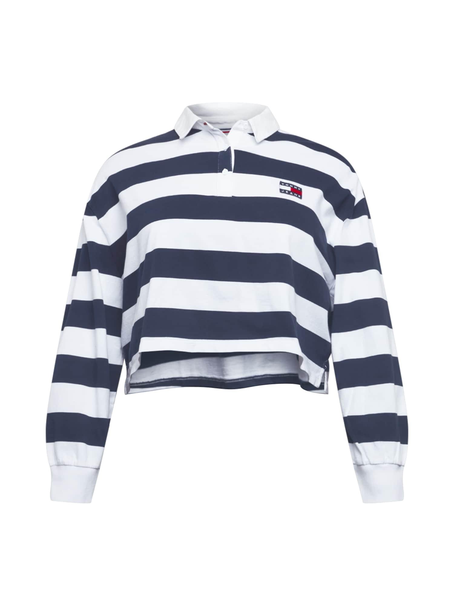 Tommy Jeans Curve Marškinėliai tamsiai mėlyna / balta / raudona