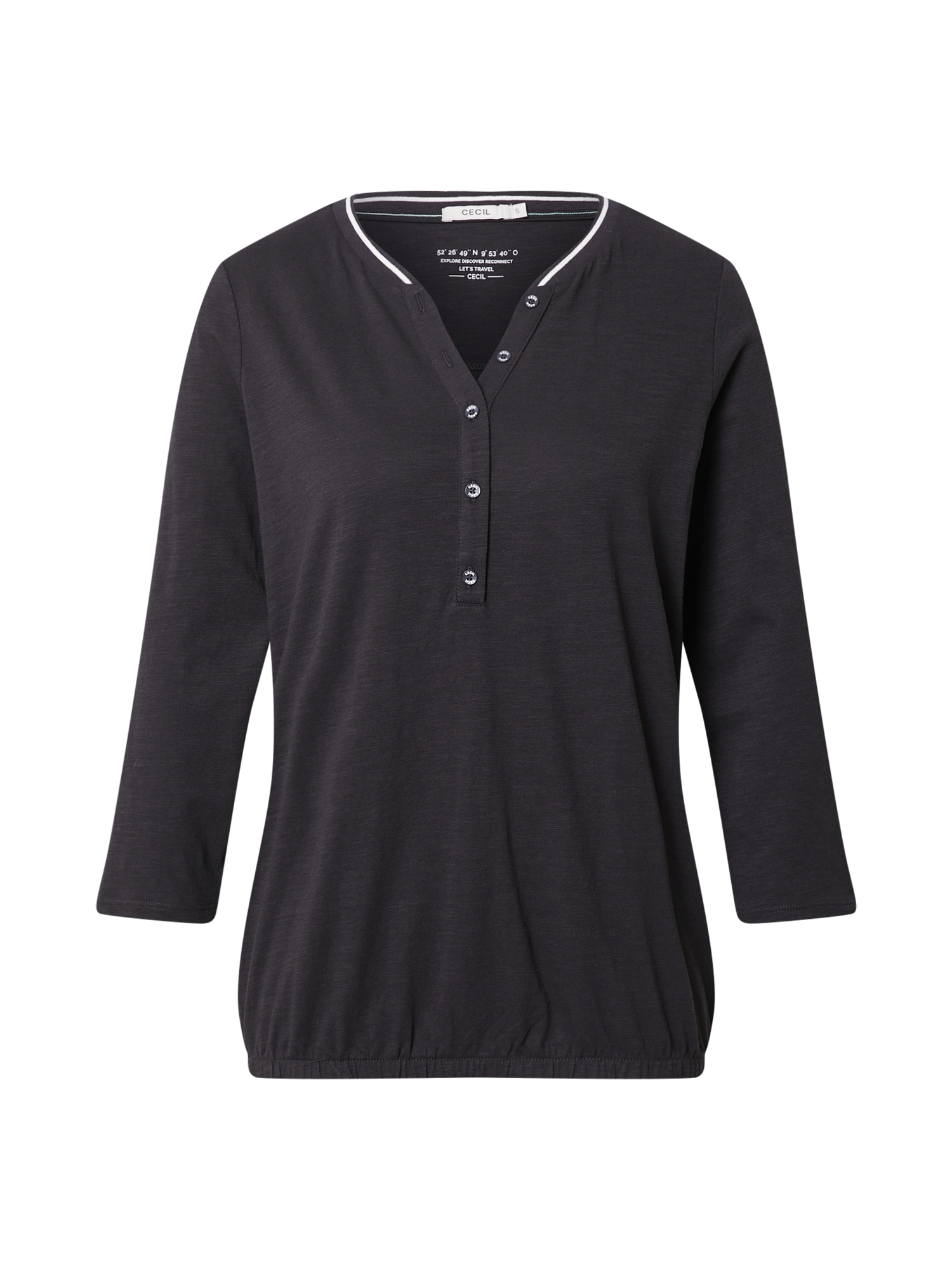 CECIL Marškinėliai bazalto pilka