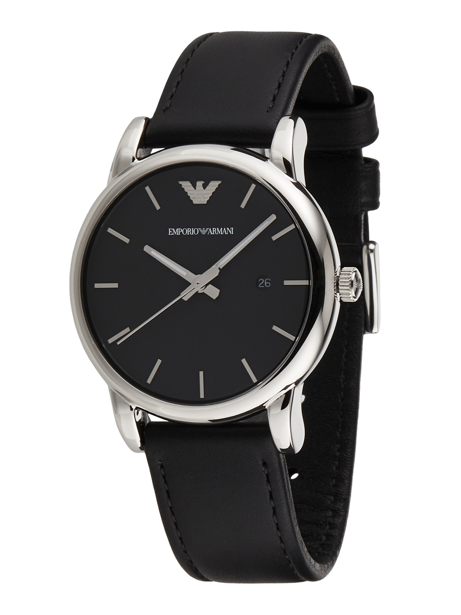 Emporio Armani Analoginis (įprasto dizaino) laikrodis juoda / sidabrinė