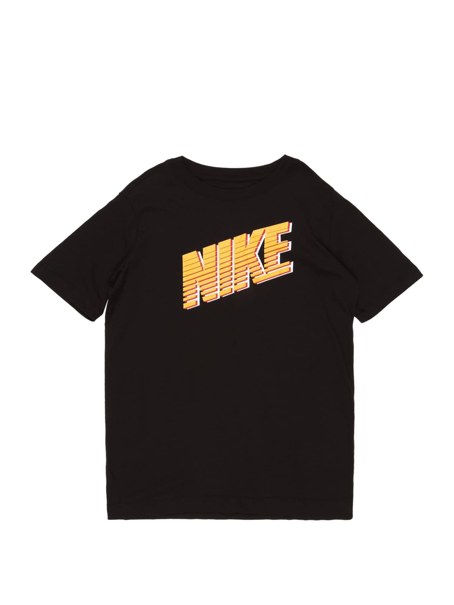 Nike Sportswear Tričko  oranžová / čierna / oranžovo červená / biela