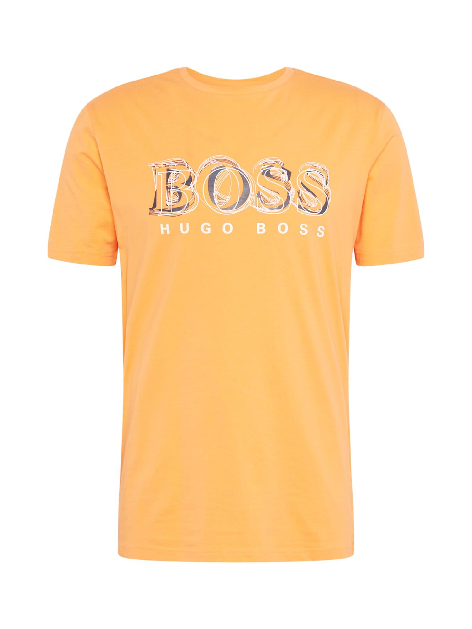 BOSS ATHLEISURE Marškinėliai 'Tee 4' oranžinė