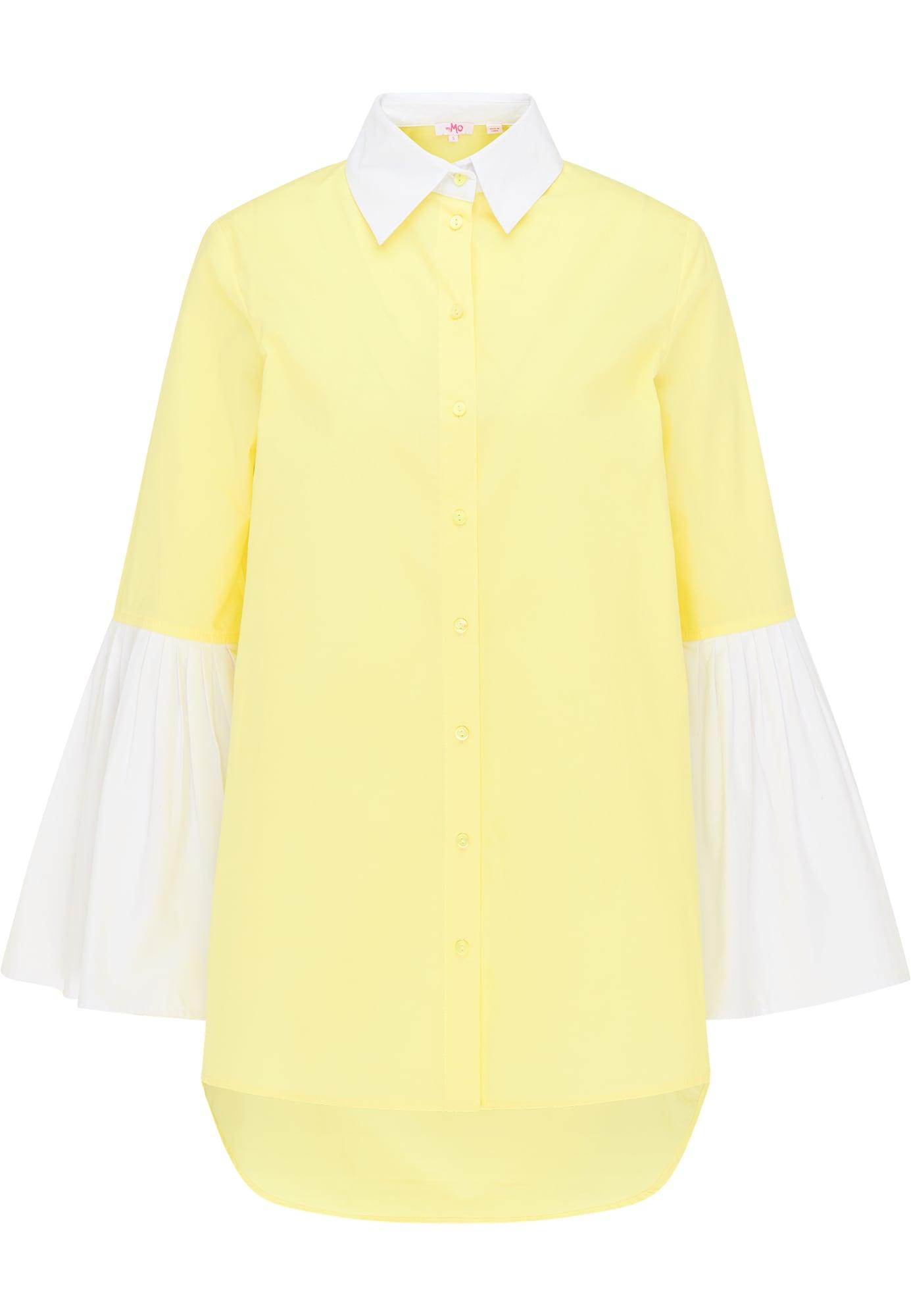MYMO Palaidinė balta / citrinos spalva