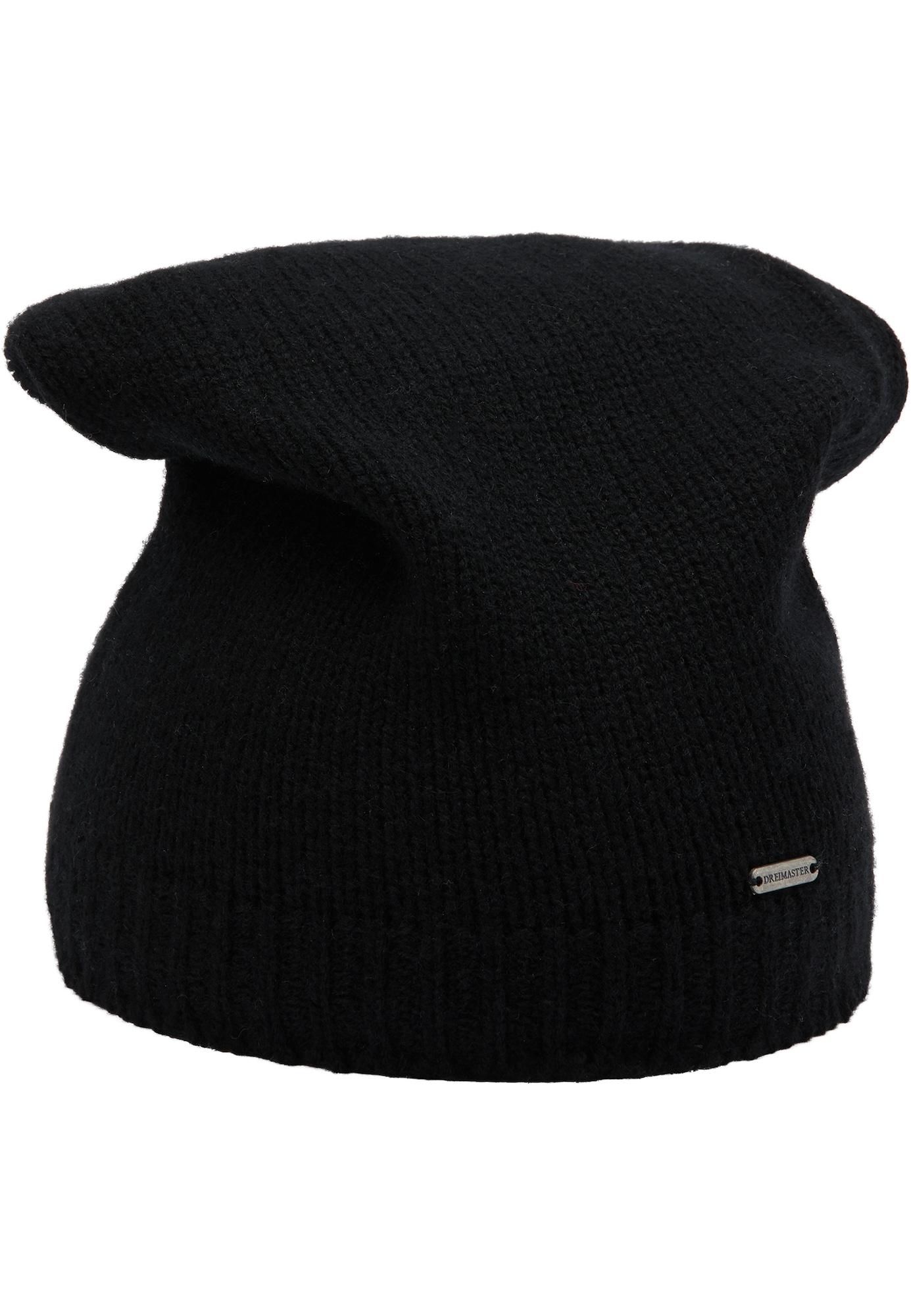 DreiMaster Klassik Megzta kepurė juoda