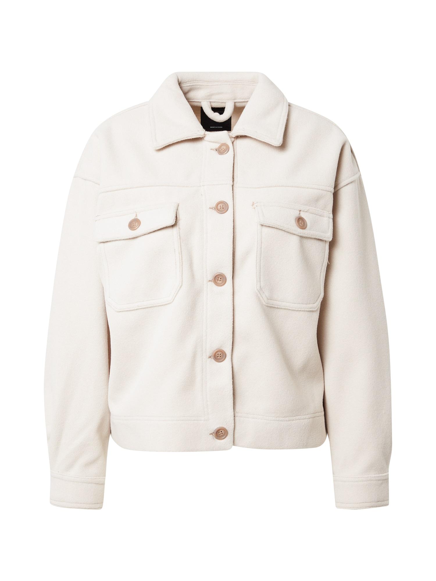 Cotton On Demisezoninė striukė kapučino spalva / natūrali balta