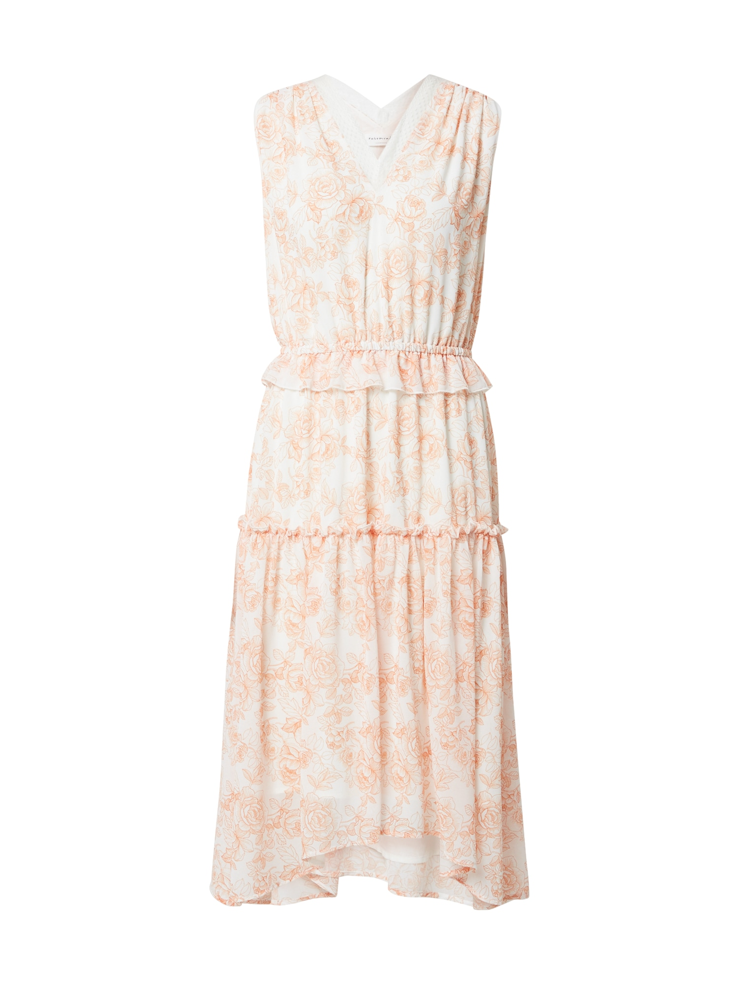 rosemunde Vasarinė suknelė balta / abrikosų spalva