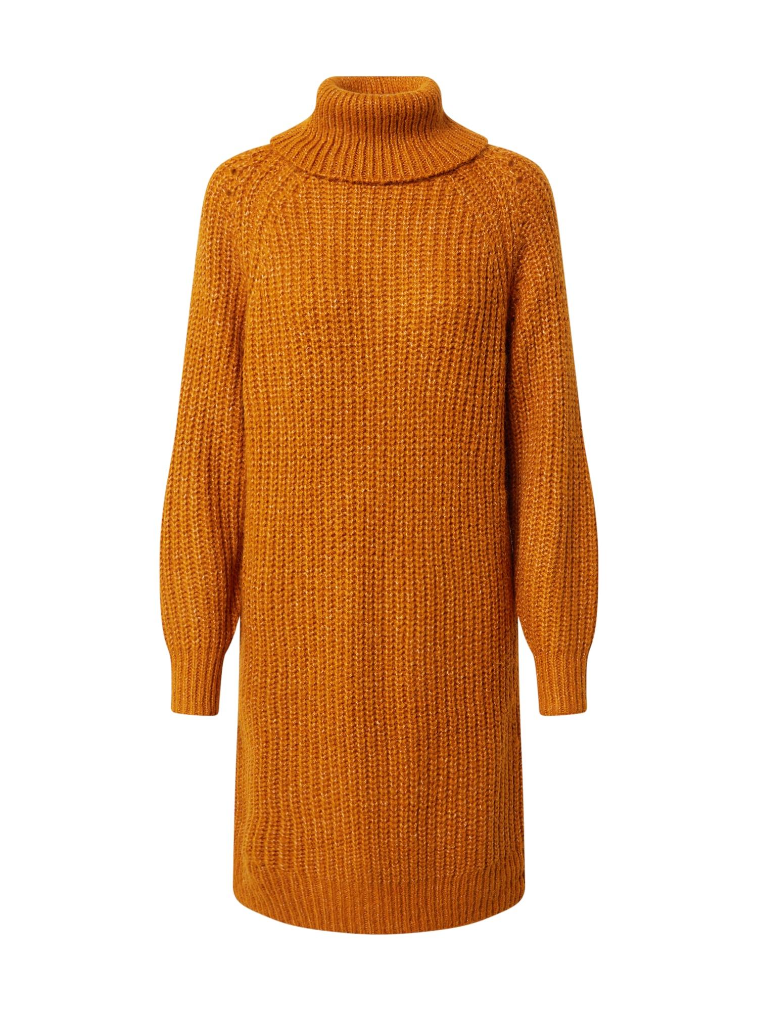 VILA Úpletové šaty 'Suba'  oranžová