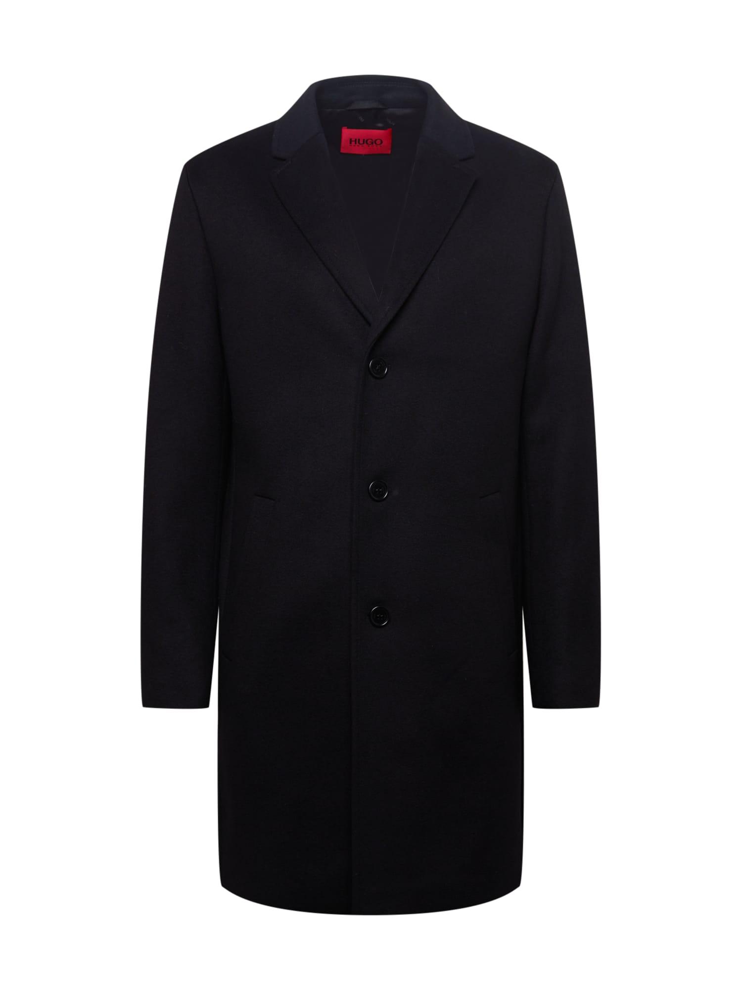 HUGO Přechodný kabát  černá