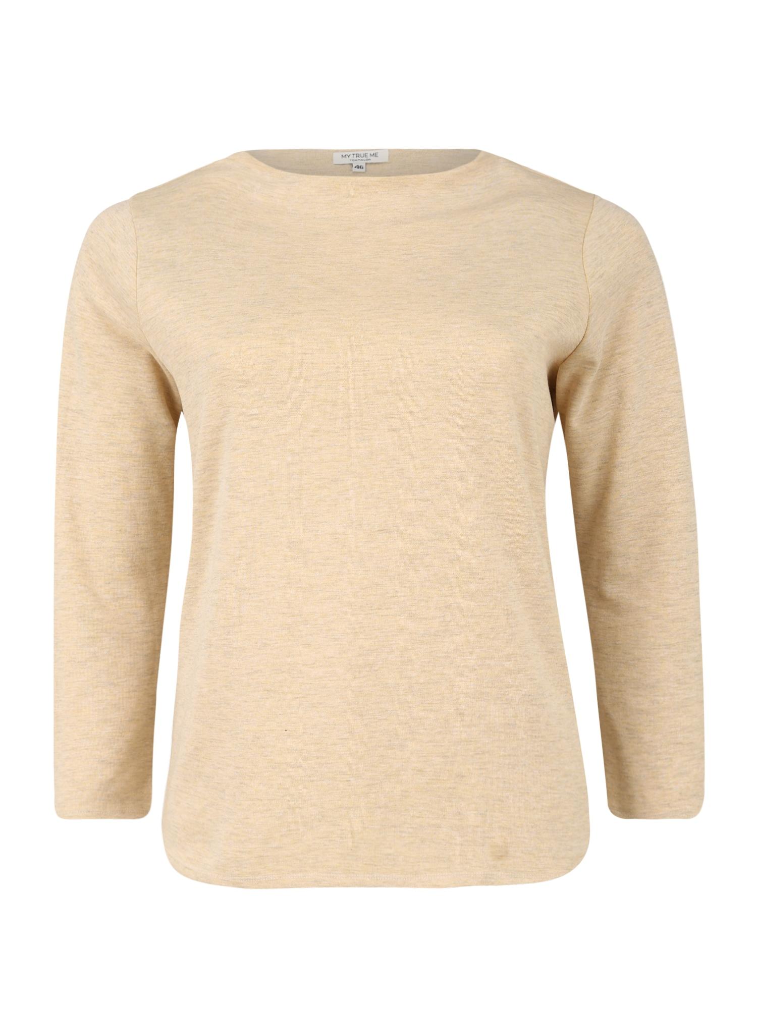 MY TRUE ME Marškinėliai gelsvai pilka spalva