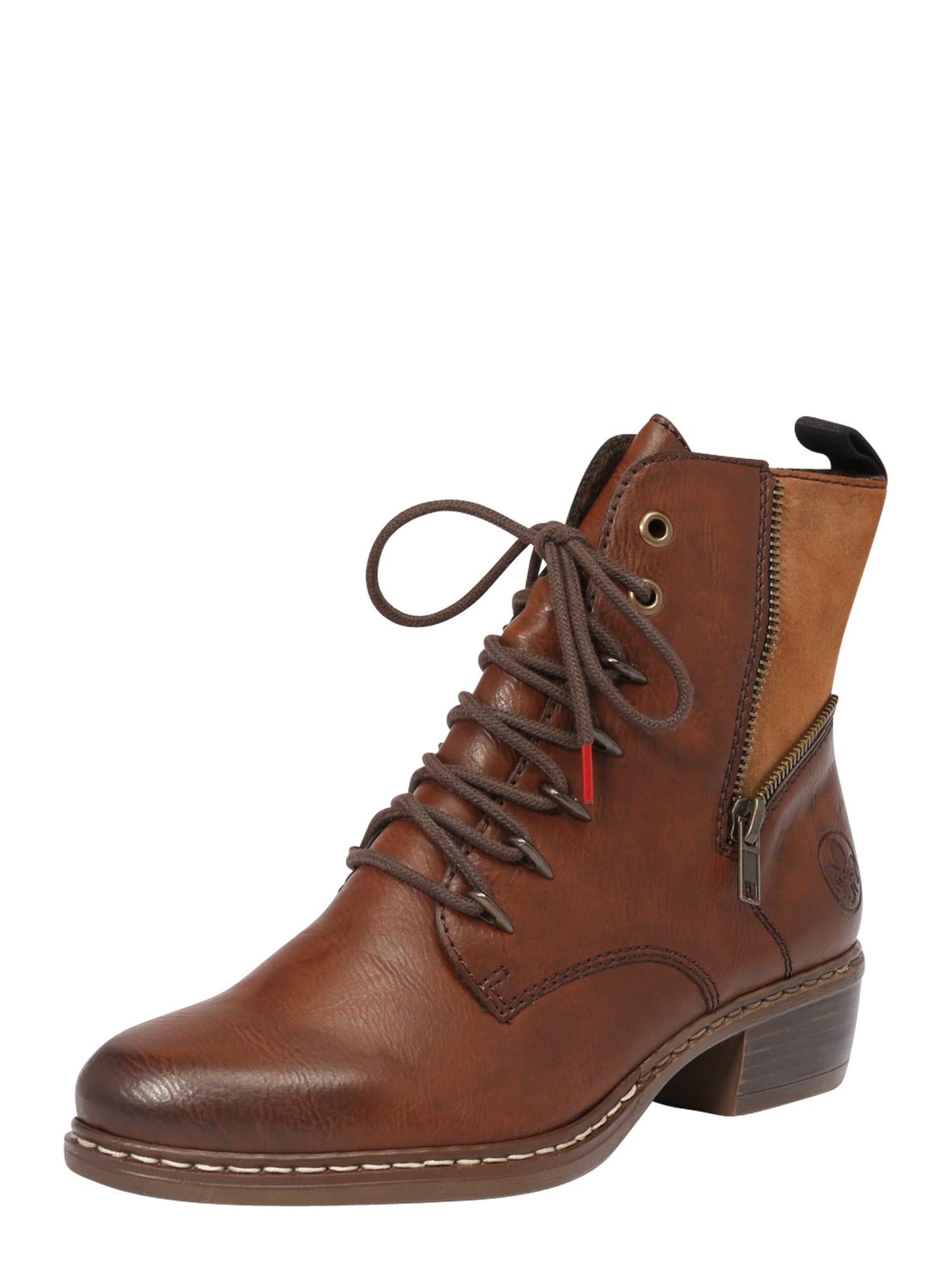RIEKER Šněrovací boty  hnědá