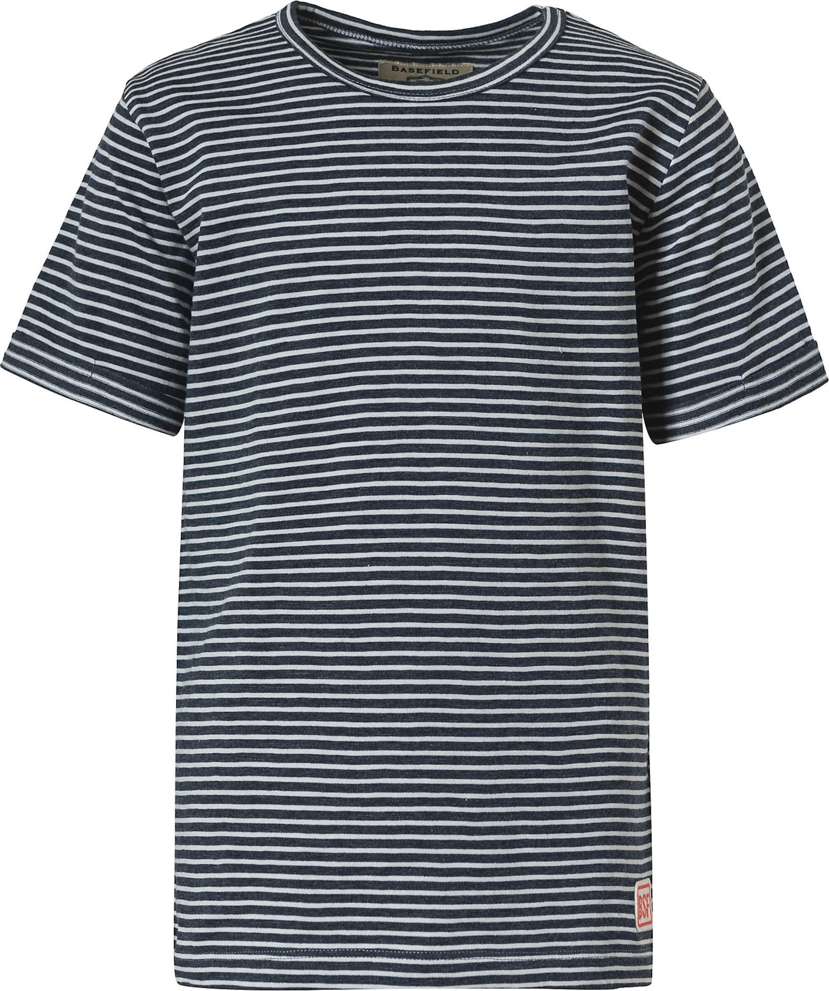 BASEFIELD Marškinėliai tamsiai mėlyna jūros spalva / balta