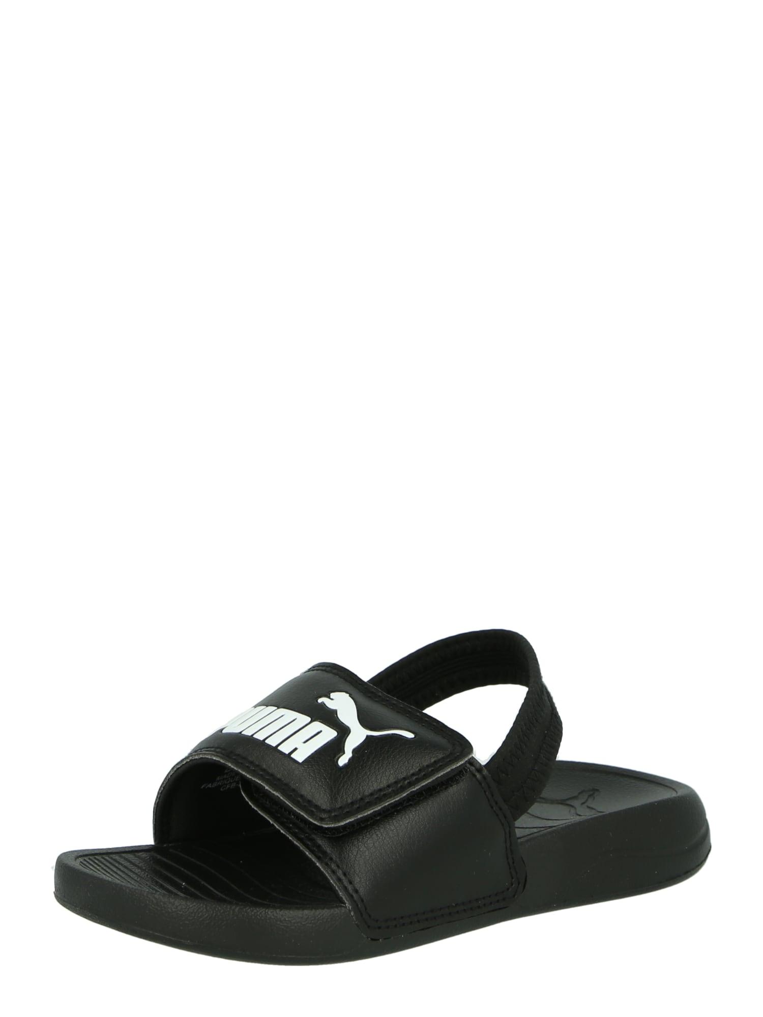 PUMA Sandalai / maudymosi batai balta / juoda
