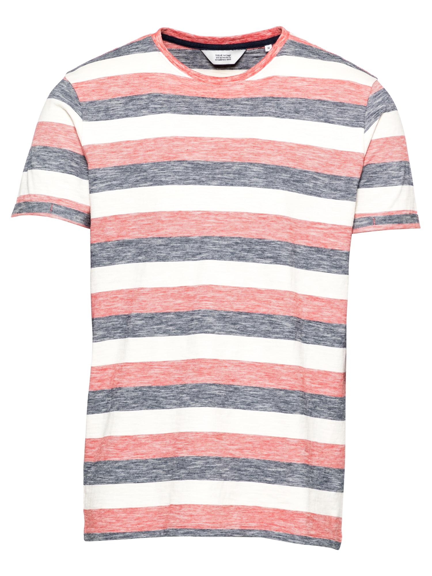 !Solid Marškinėliai balta / margai raudona / margai mėlyna