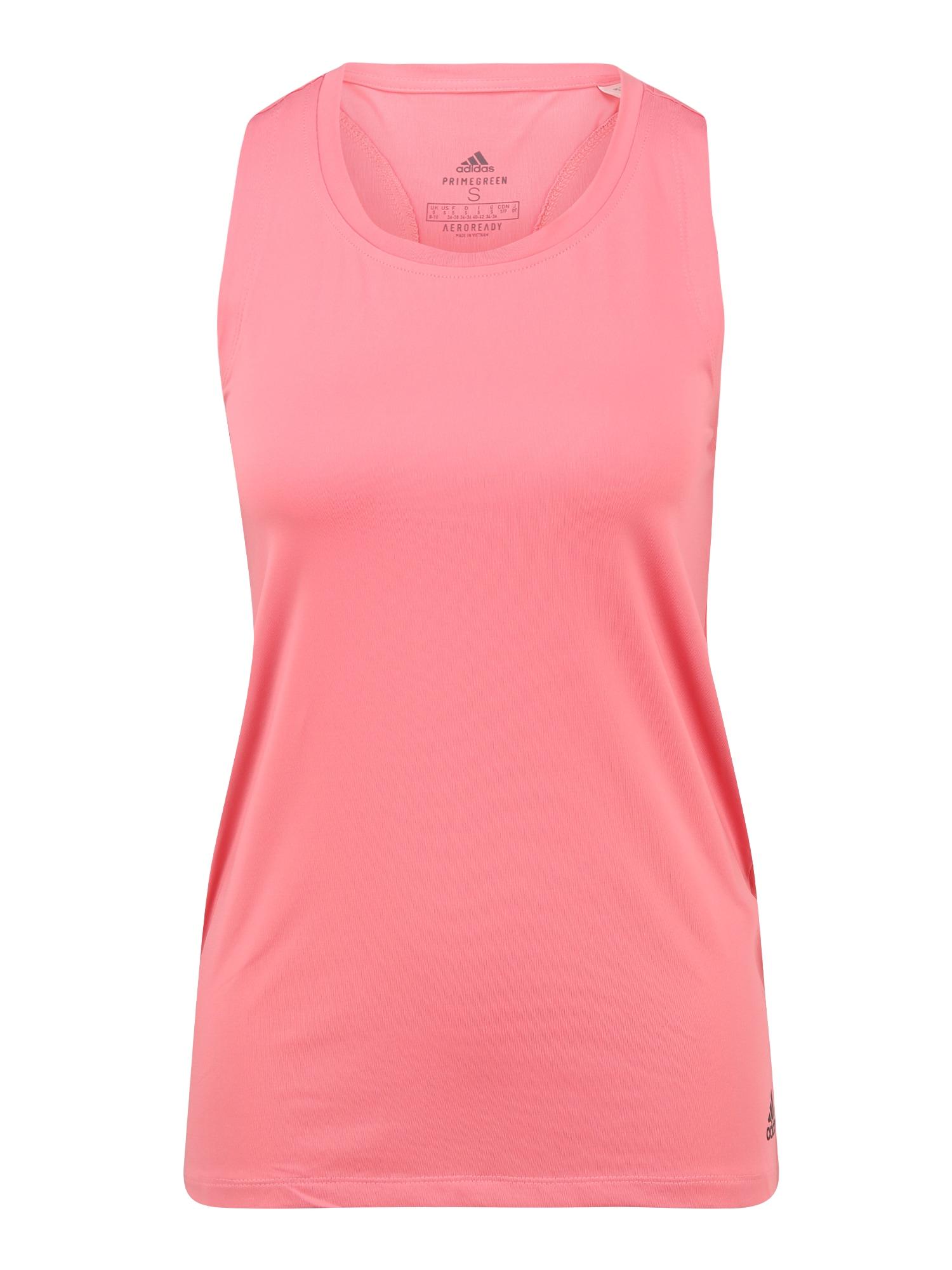 ADIDAS PERFORMANCE Sportiniai marškinėliai be rankovių ryškiai rožinė spalva